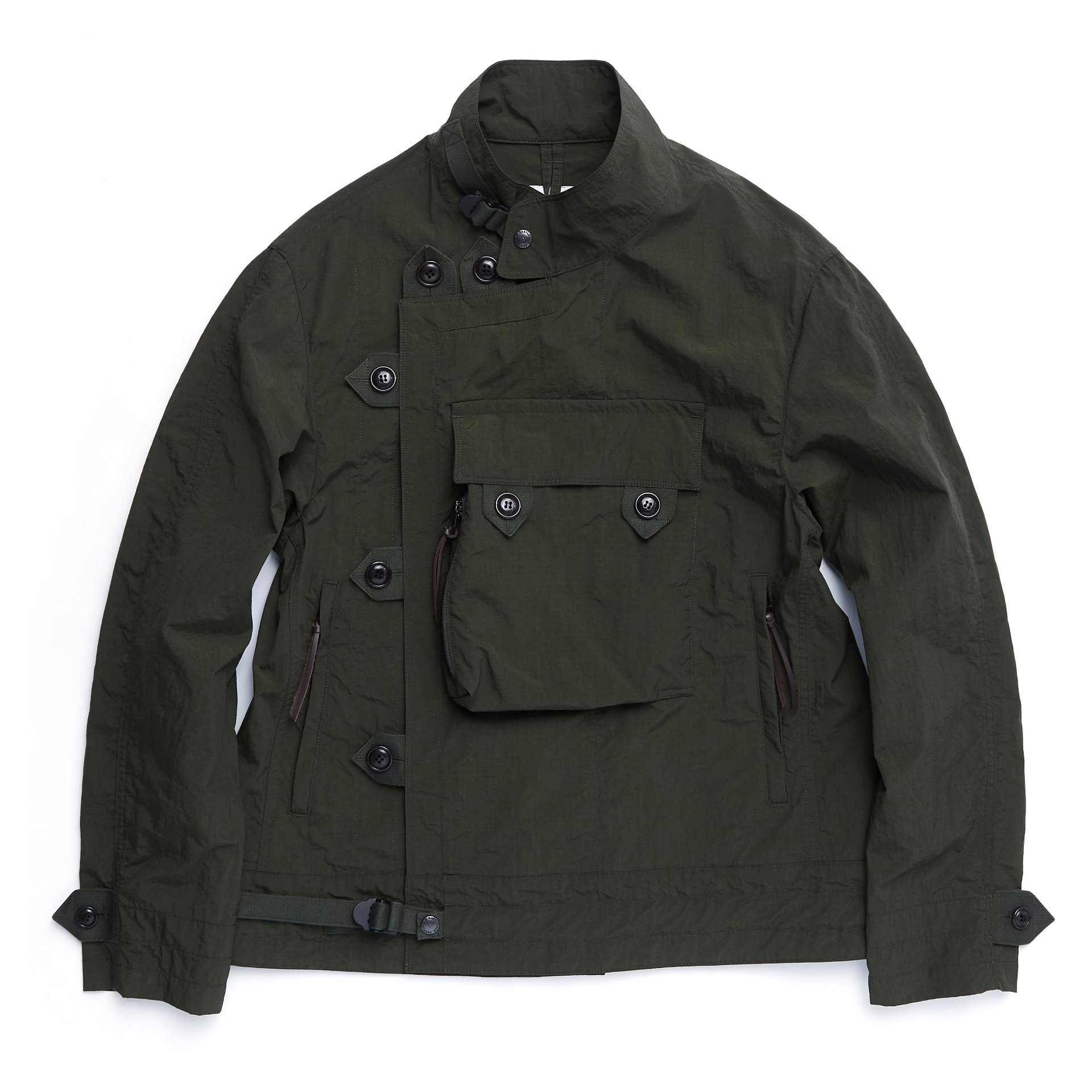 MOTORCYCLE JACKET (OLIVE RIPSTOP)