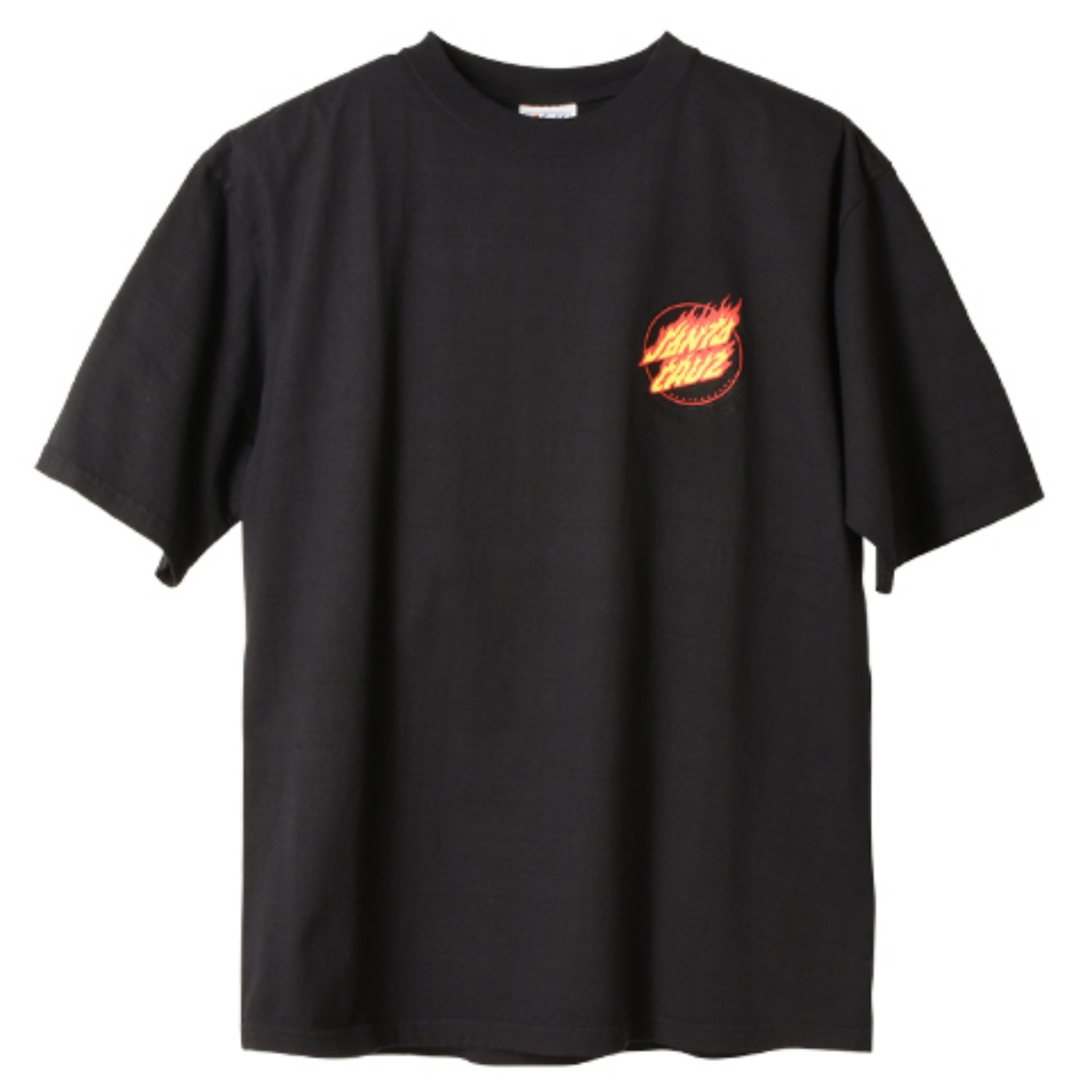 SANTA CRUZ × SD Flame Logo T(BLACK)
