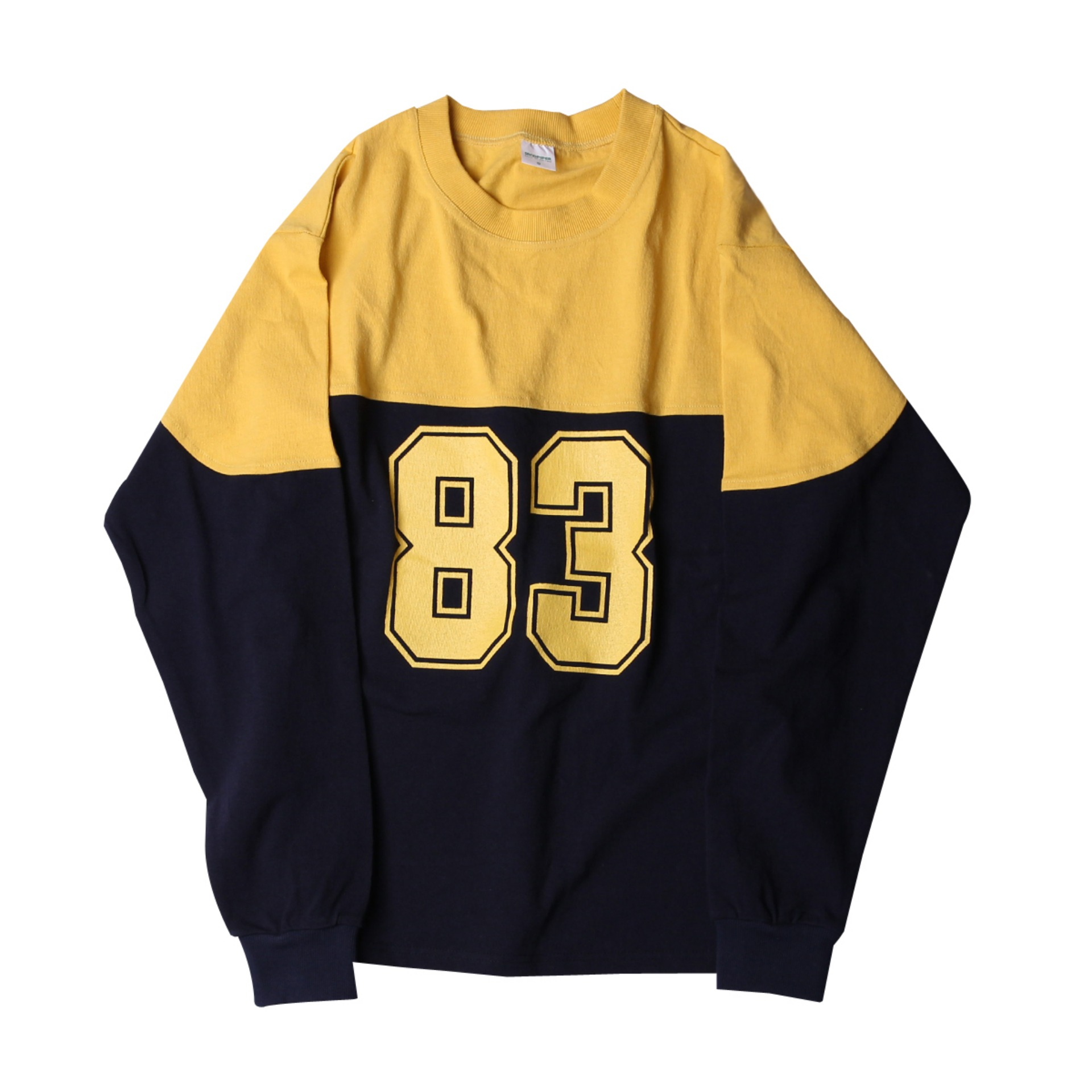 83 FOOTBALL LONG TEE (Navy x Yellow)