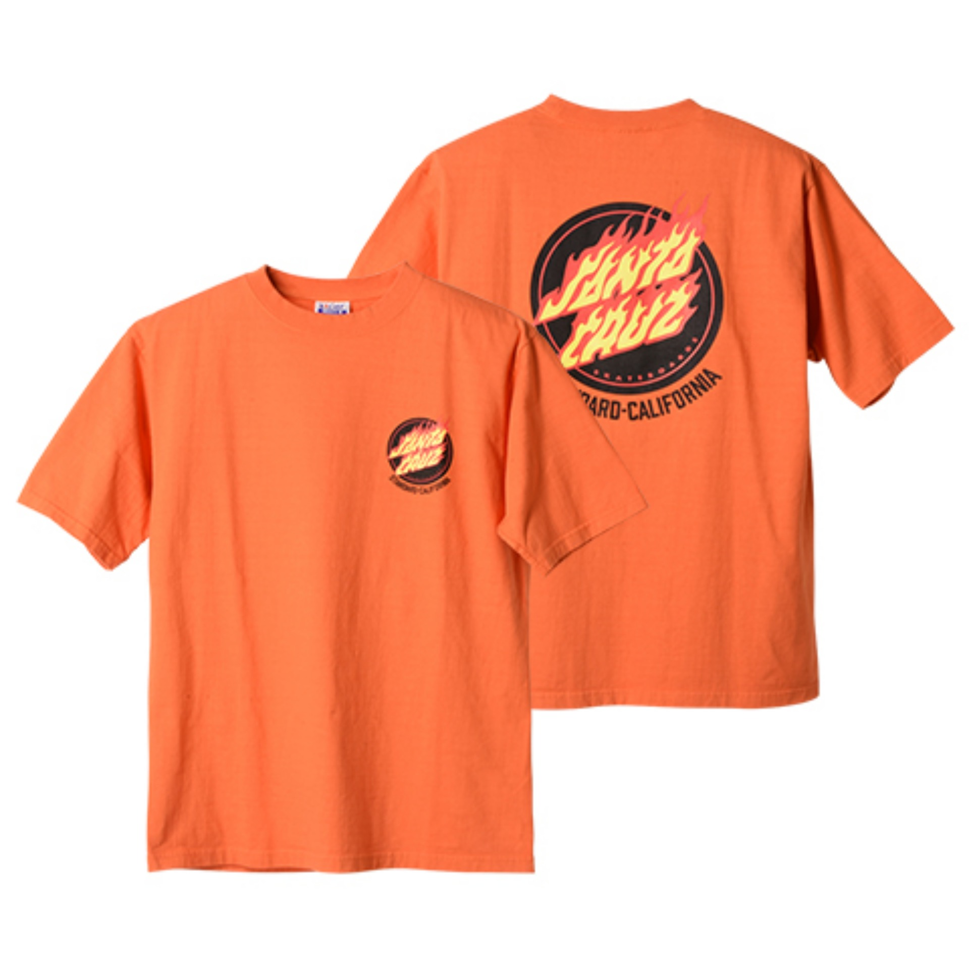 SANTA CRUZ × SD Flame Logo T(ORANGE)