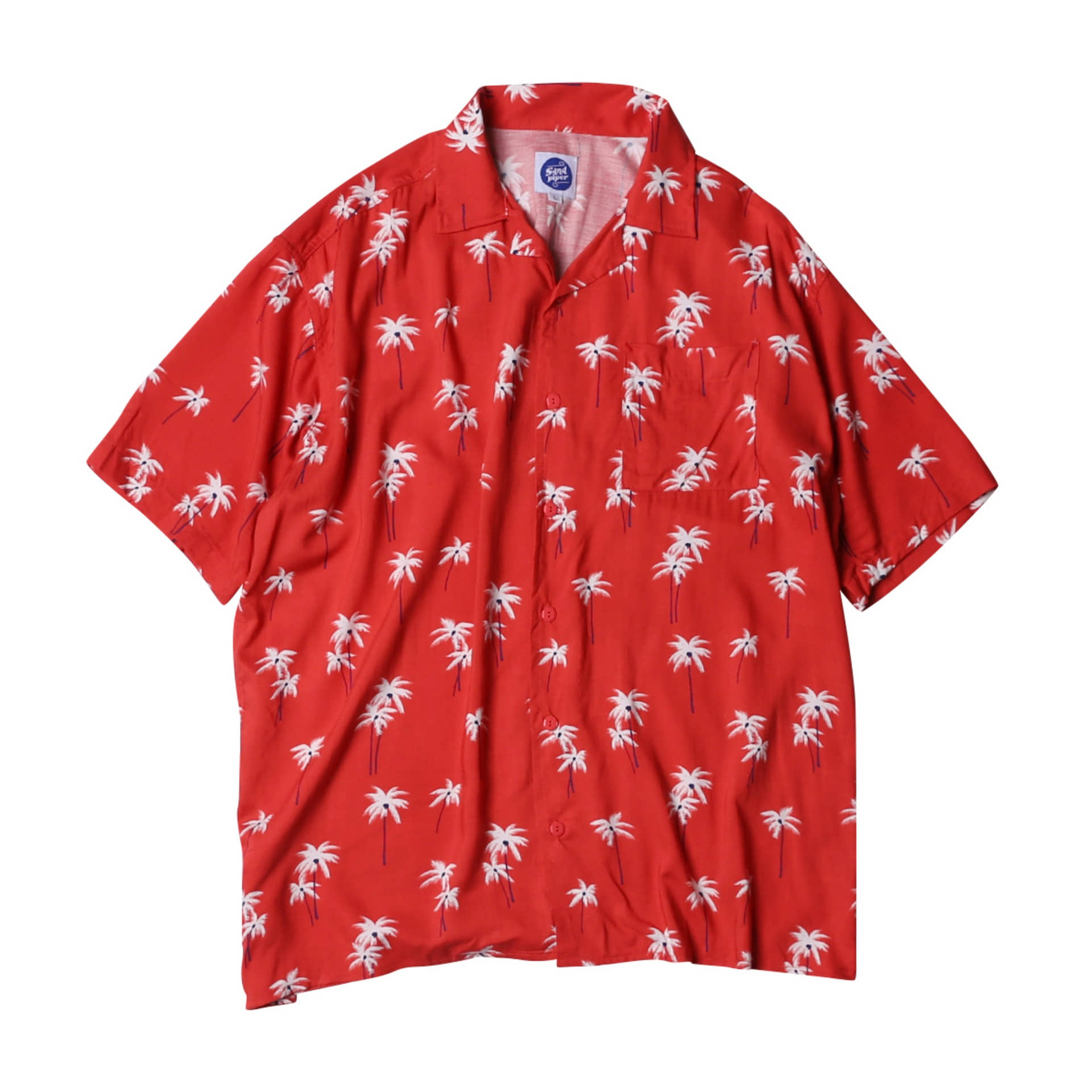 FLOWER HAWAIIAN SHIRTS(RED)