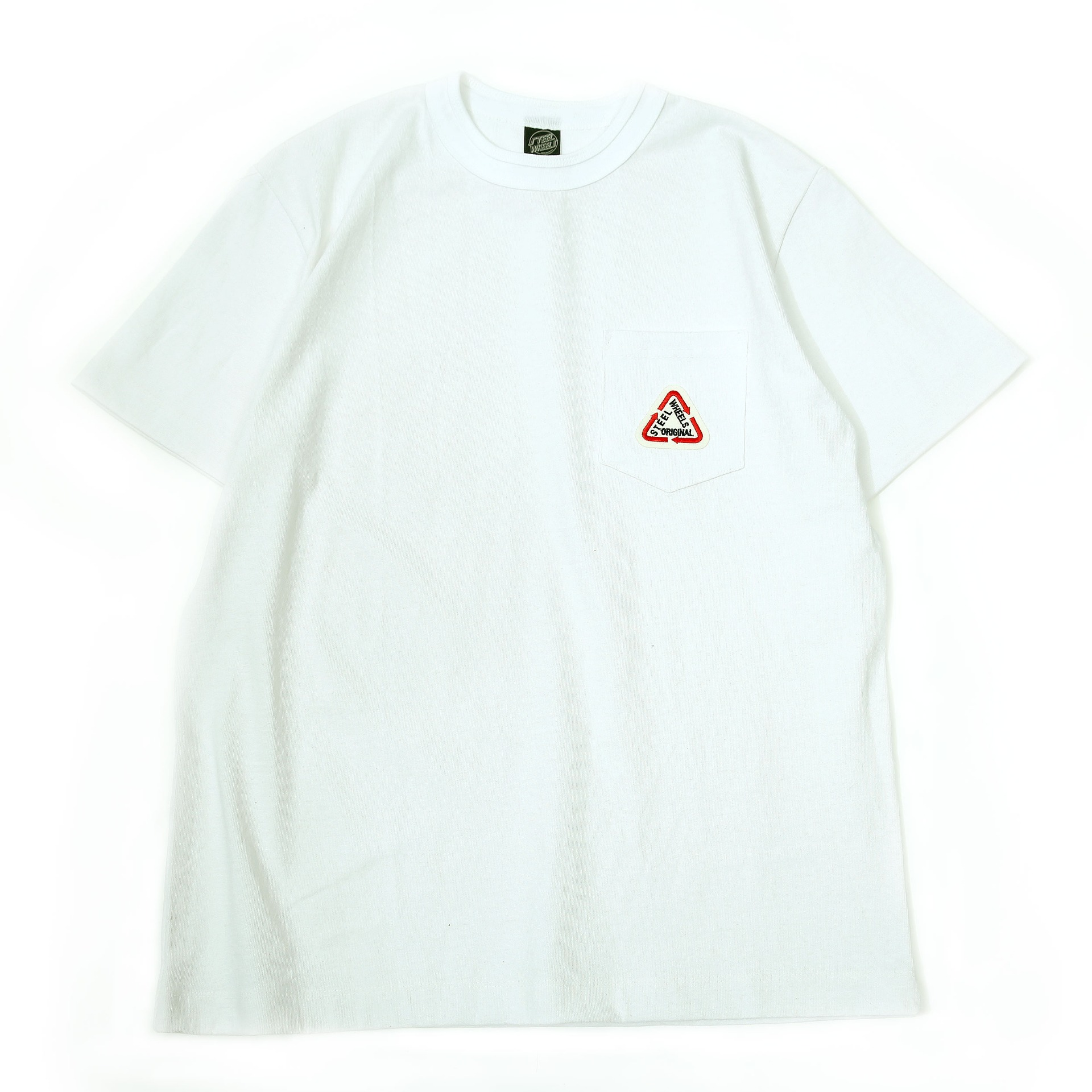 S LOGO POCKET T-SHIRT(WHITE)