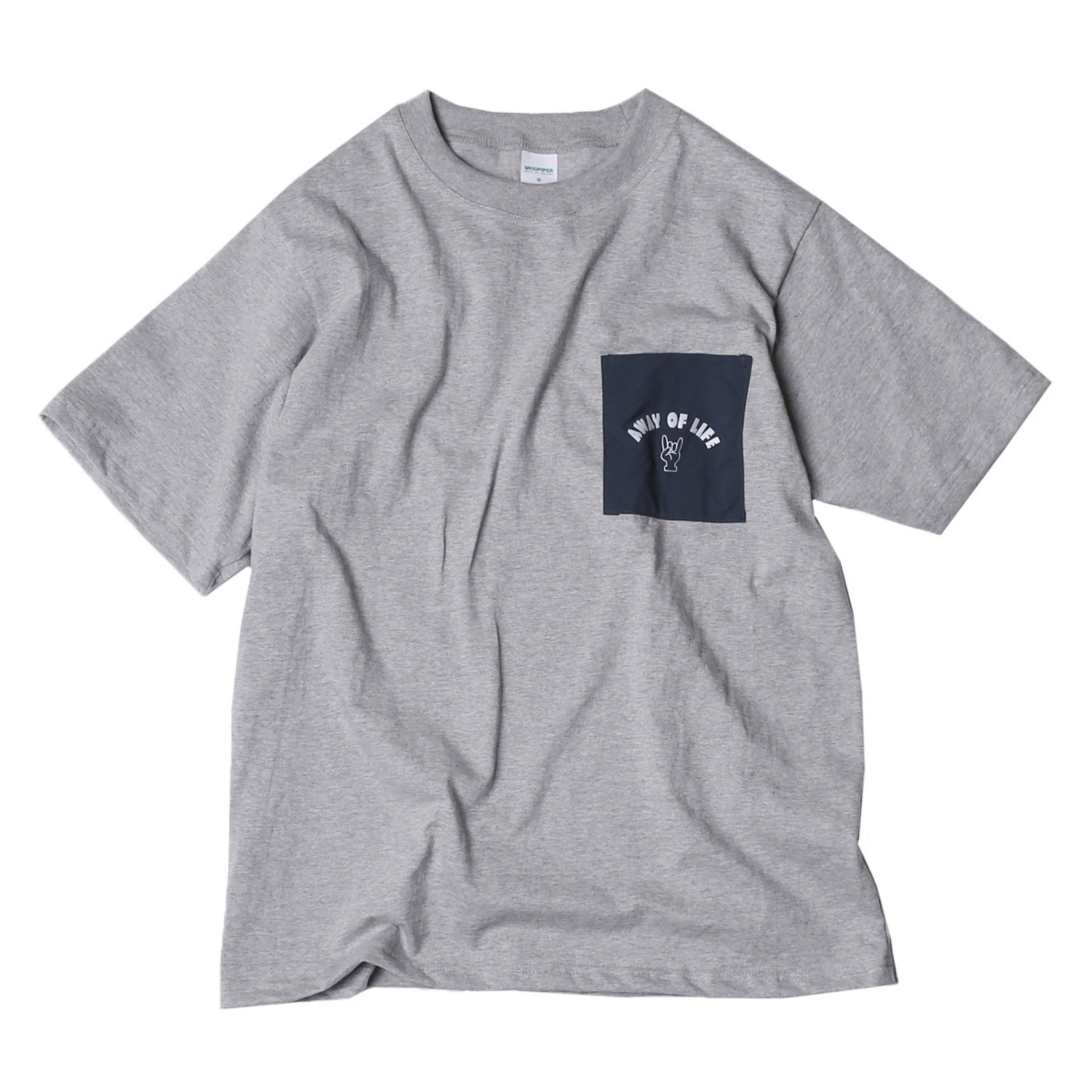 AWAY OF LIFE POCKET T SHIRTS(MELANGE)