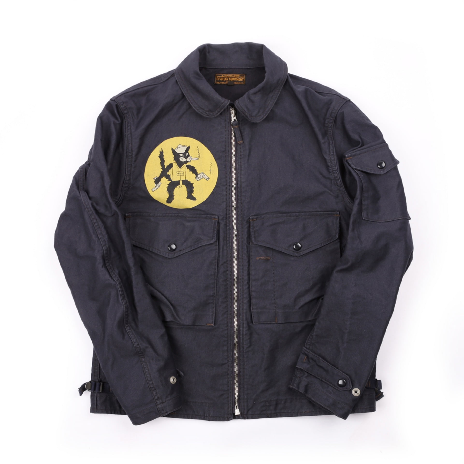 "[UNION SPECIAL OVERALLS]S-8 AVIATOR JACKET""VPB-71 BLACK CATS""(Dark Navy)"