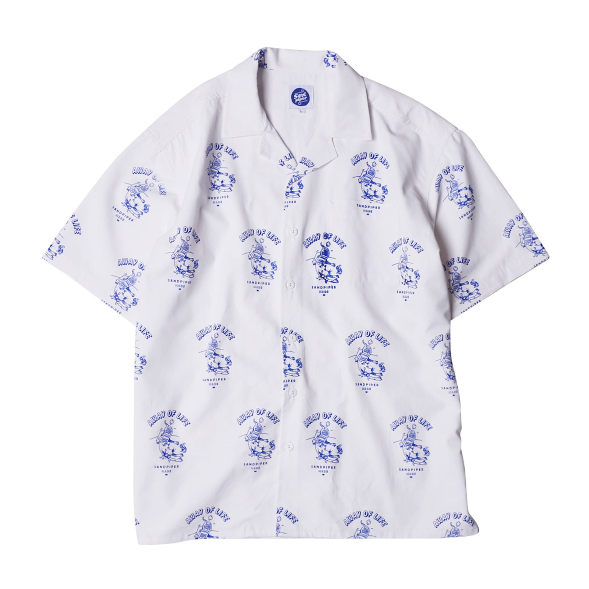 DIABETES DOG HAWAIIAN SHIRTS(WHITE)