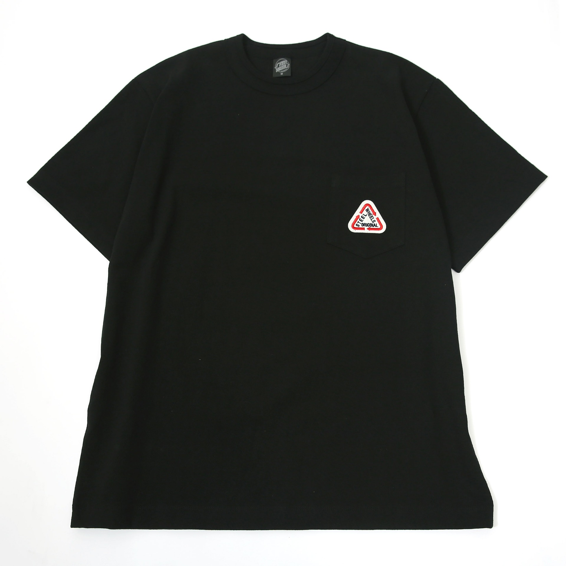 S LOGO POCKET T-SHIRT(BLACK)