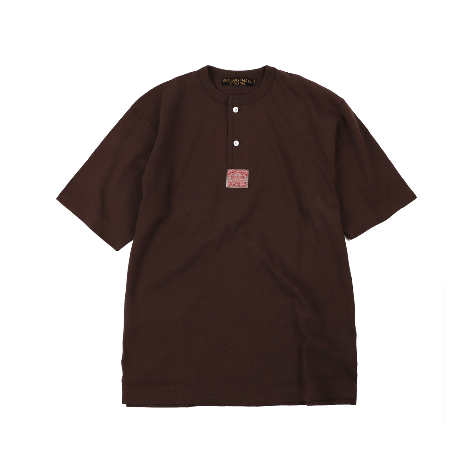 "[Great Lakes GMT. MFG. Co.]""Henley Necked S/S Shirt"" (Coal Tar)"