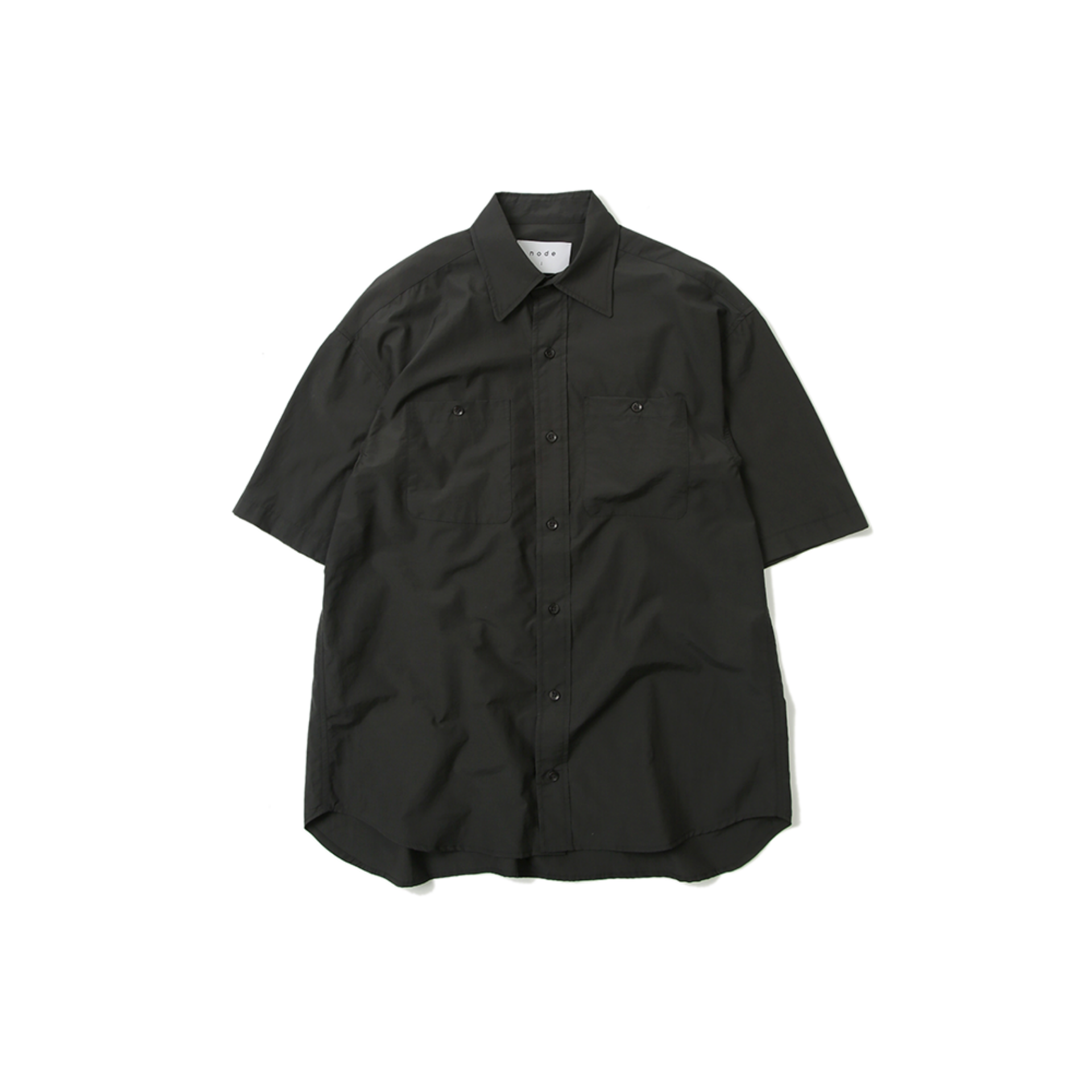 OVERSIZED HALF SHIRT (ANTHRACITE)