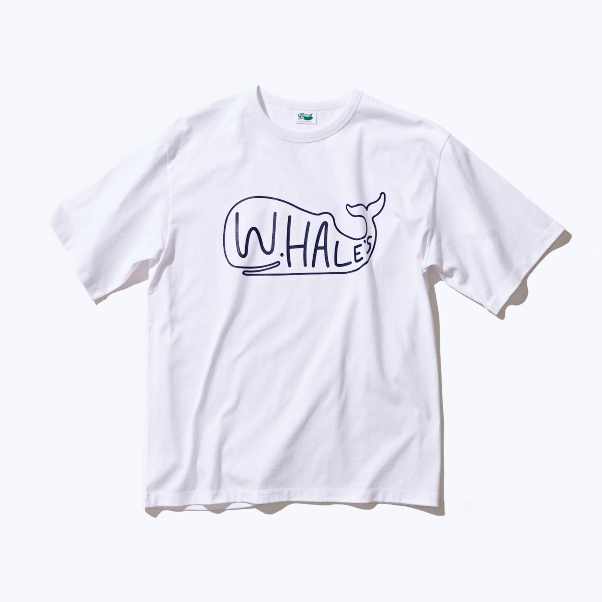 WHALE'S BIG LOGO T-SHIRT (WHITE)