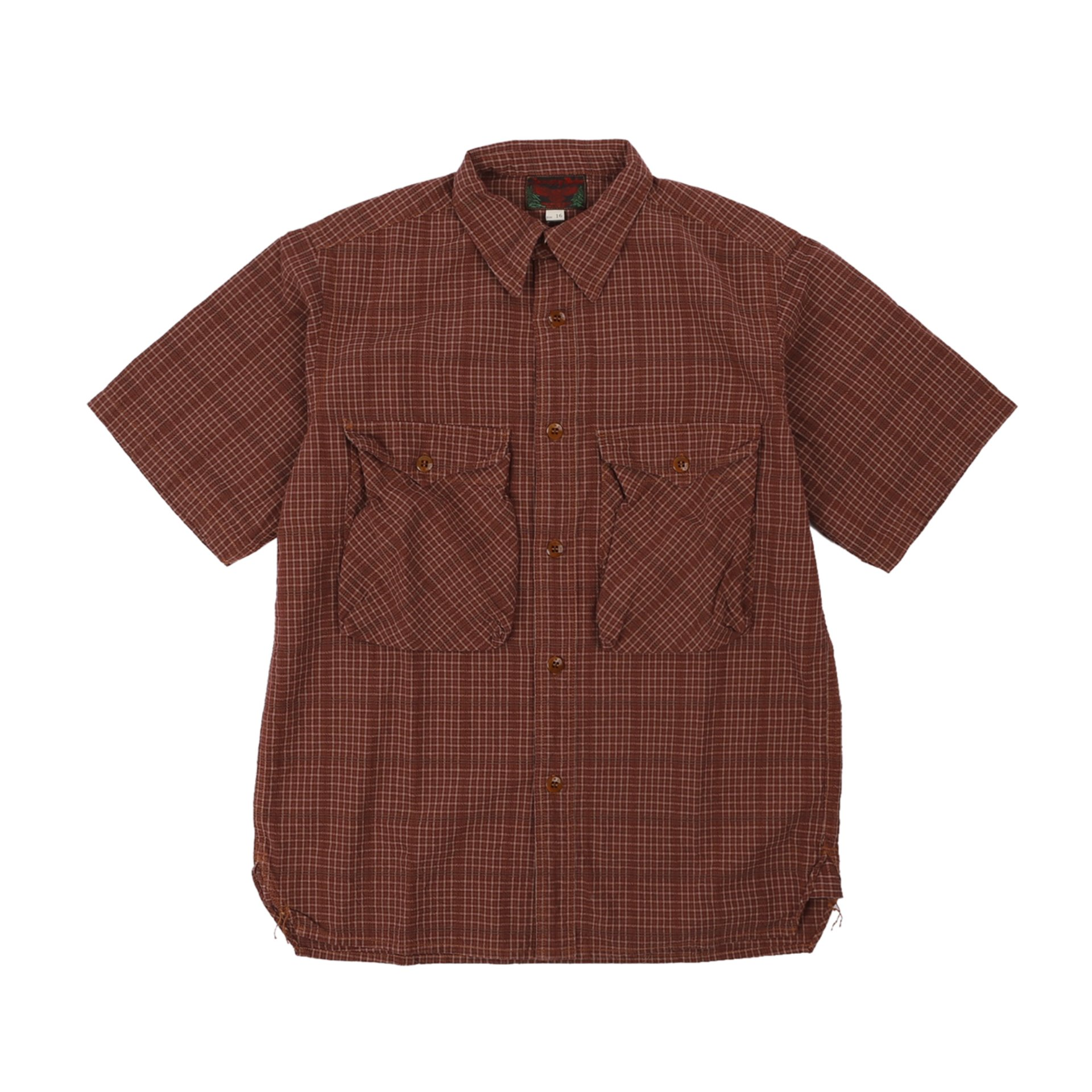 "[Great Lakes GMT. MFG. Co.]UTILITY GARMENTS""HIGH BALLER"" SHORT SLEEVE SHIRT(Dark Wine Red Check)"