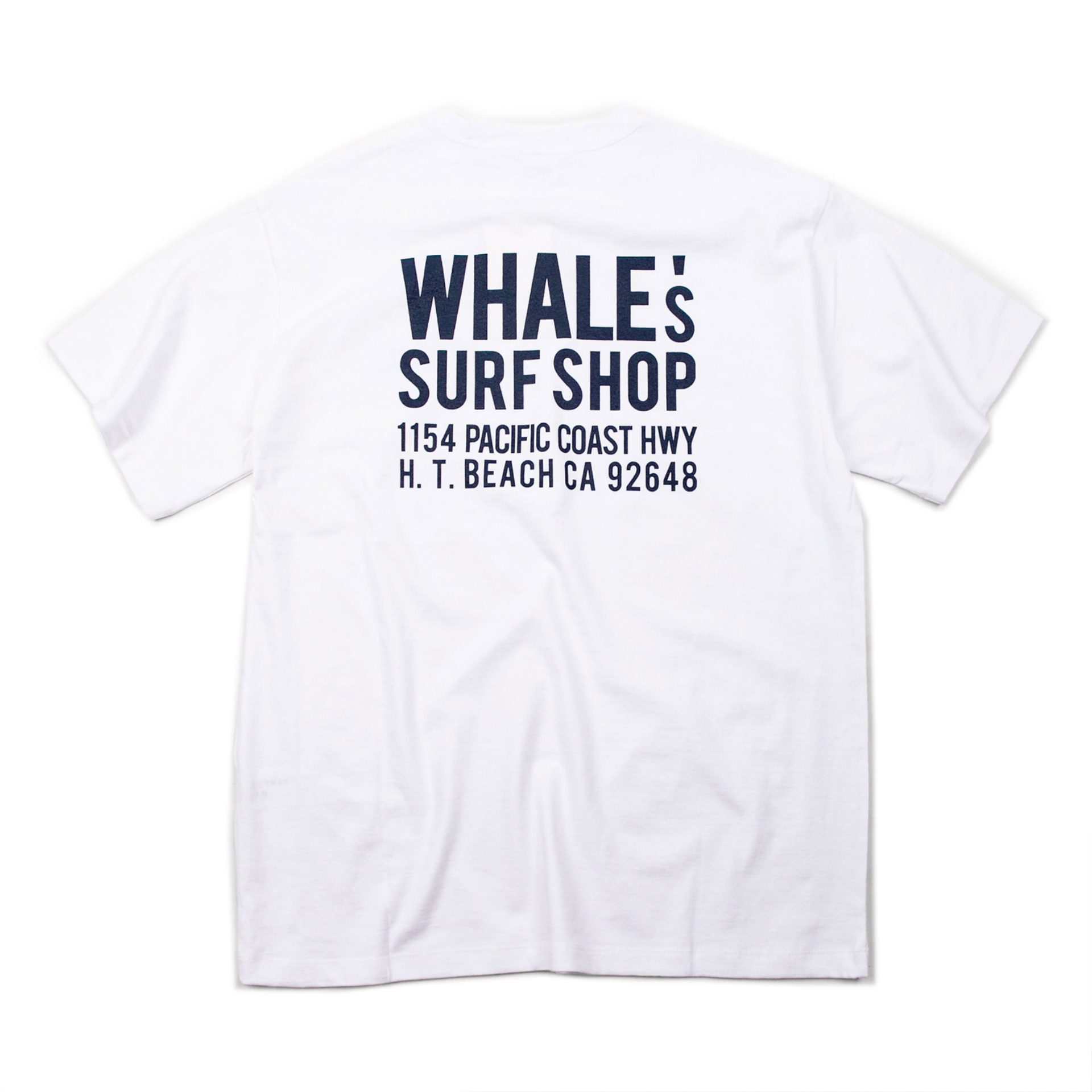 WHALE'S  ADDRESS T-SHIRT (WHITE)