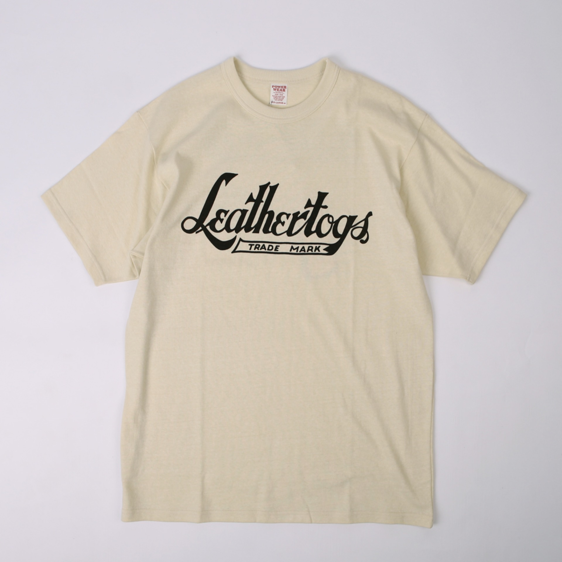 "[PowerWear]Medium Weight T-Shirt ""Leather Togs"" (Straw Cream)"