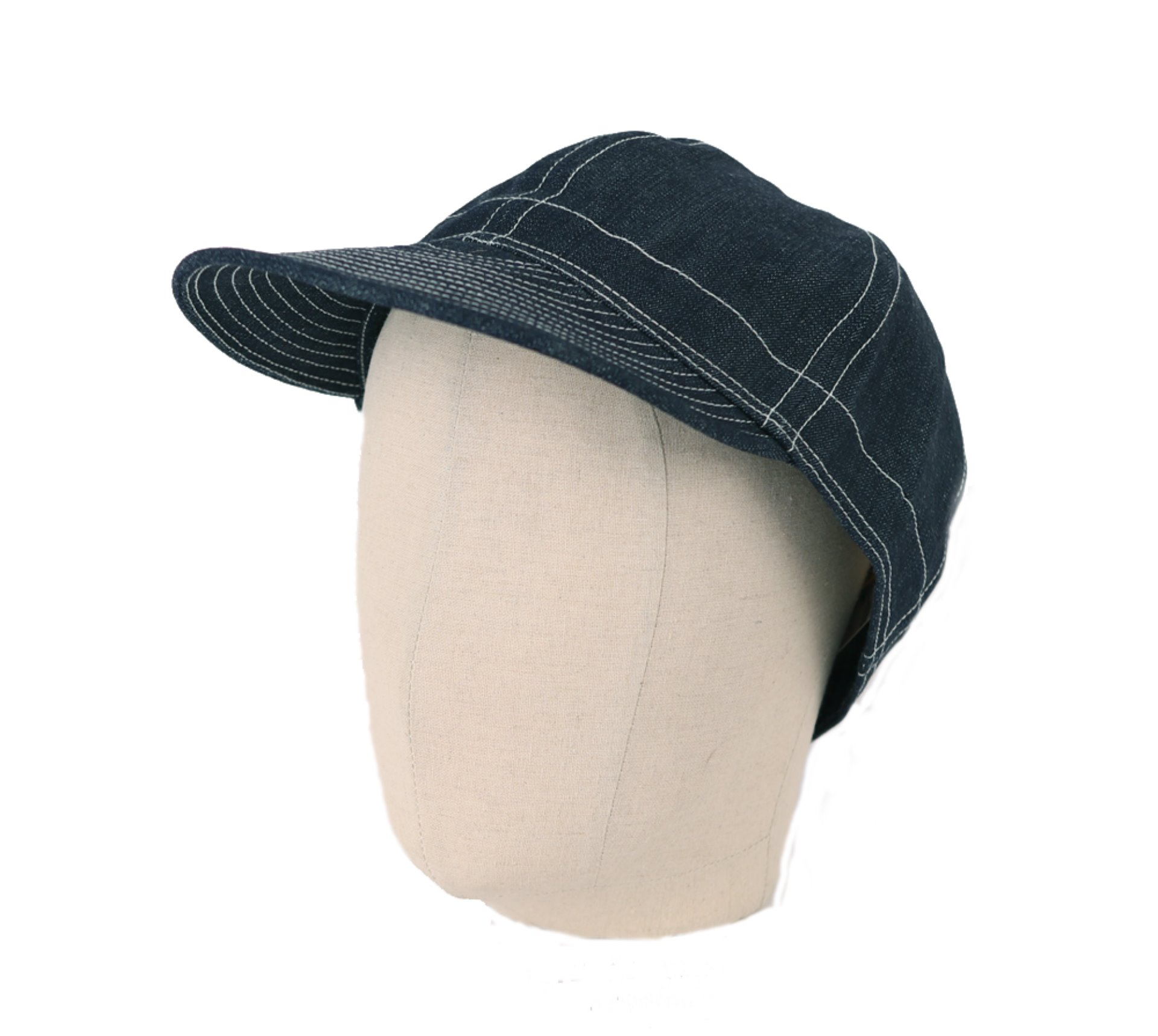 [Union Special Overalls]Civilan Military StyleMechanic Cap(10oz Indigo Denim)