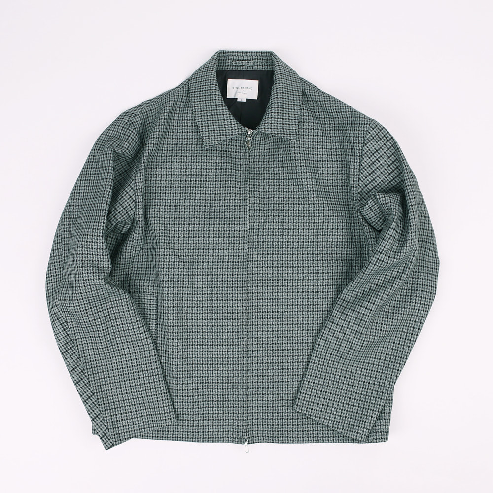 STILL BY HAND ZIP UP BLOUSON Gray check