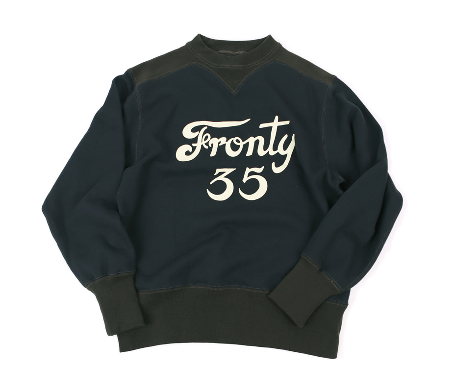 [POWER WEAR]Colored Trim SweatshirtsFronty #35(Jet Navy x Shoot Black)