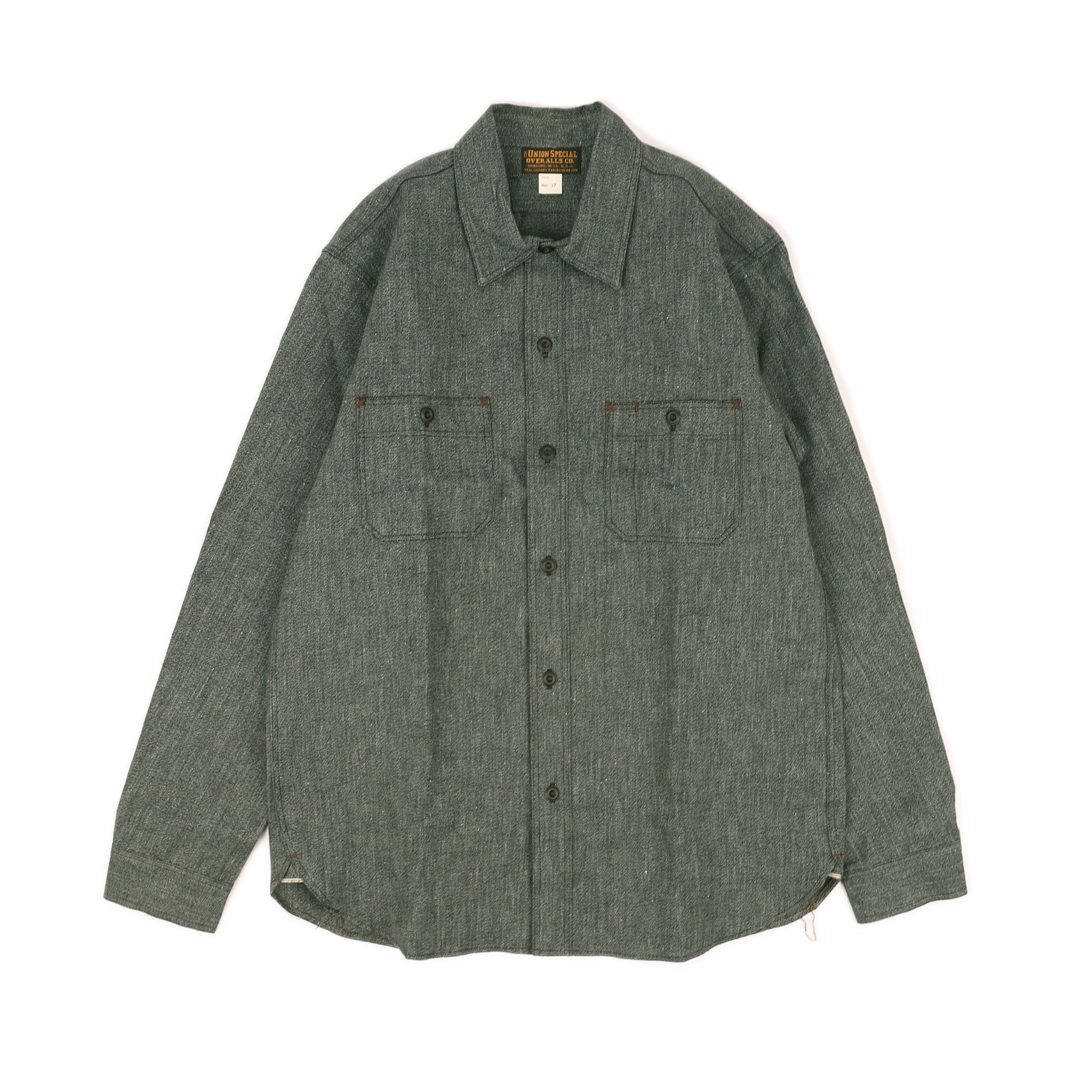 "[Union Special Ovealls]Work Shirt""NEAL""(Black Pepper)"
