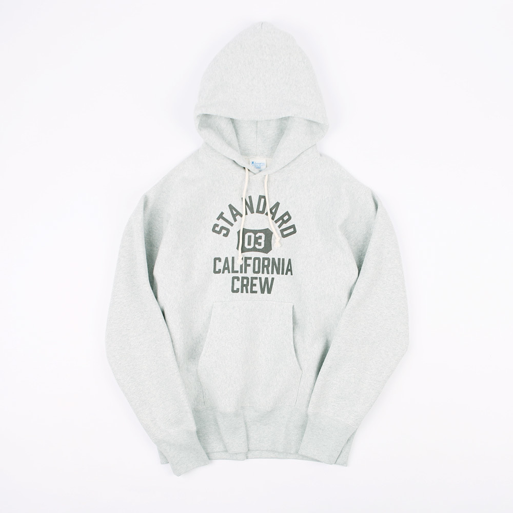 Champion × SD Reverse Weave Hood Sweat (GREY MELANGE)