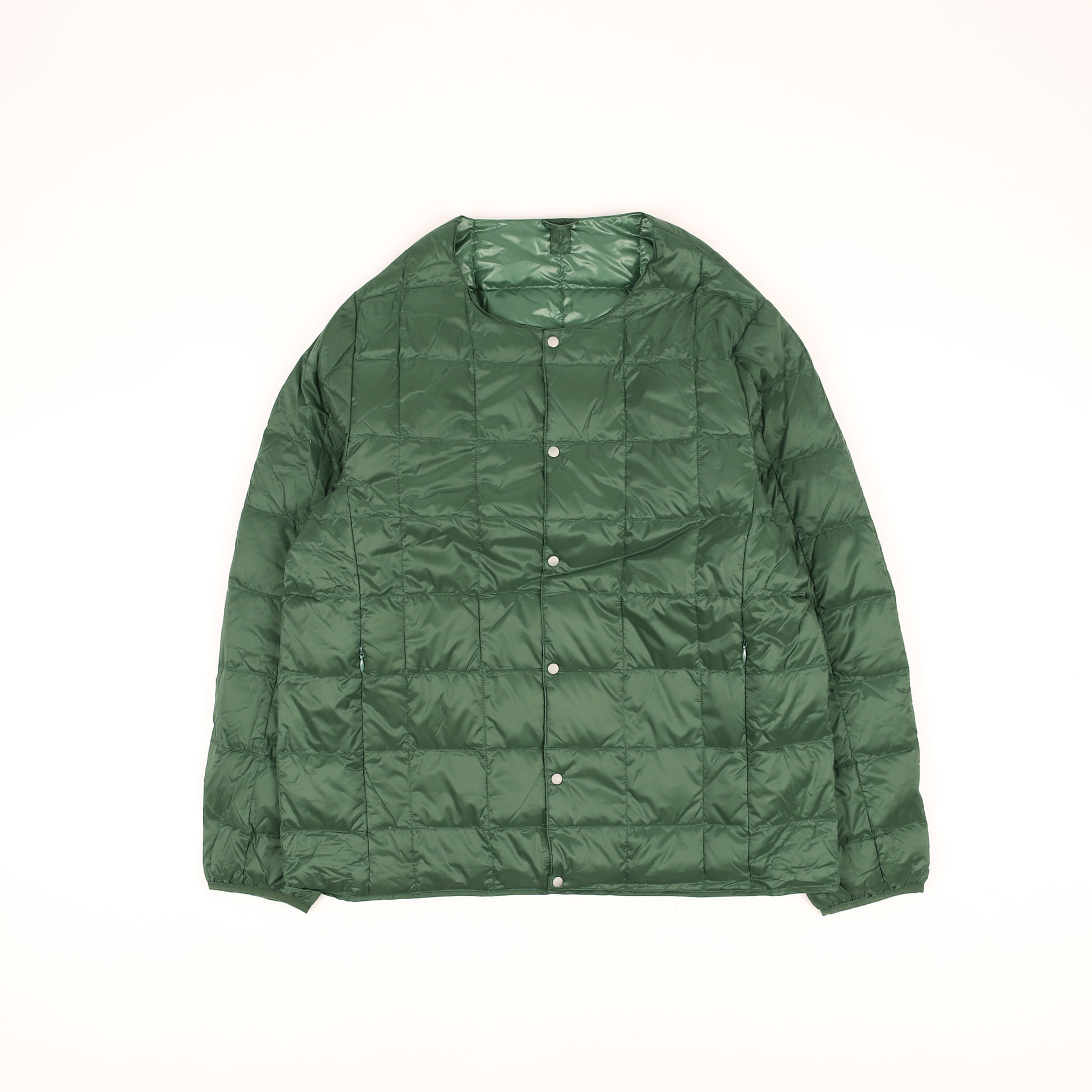 CREW NECK BUTTON DOWN JACKET TAION-104 (Green)