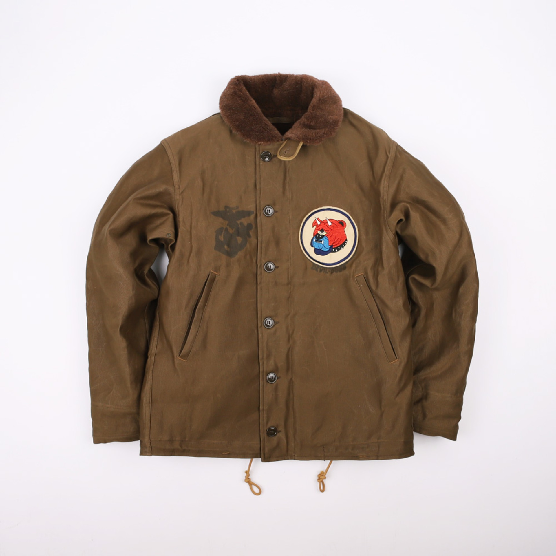 "[Navy Department]TYPE N-1 Deck, Jacket, Zip ""DEVIL DOGS""(Red Khaki)"