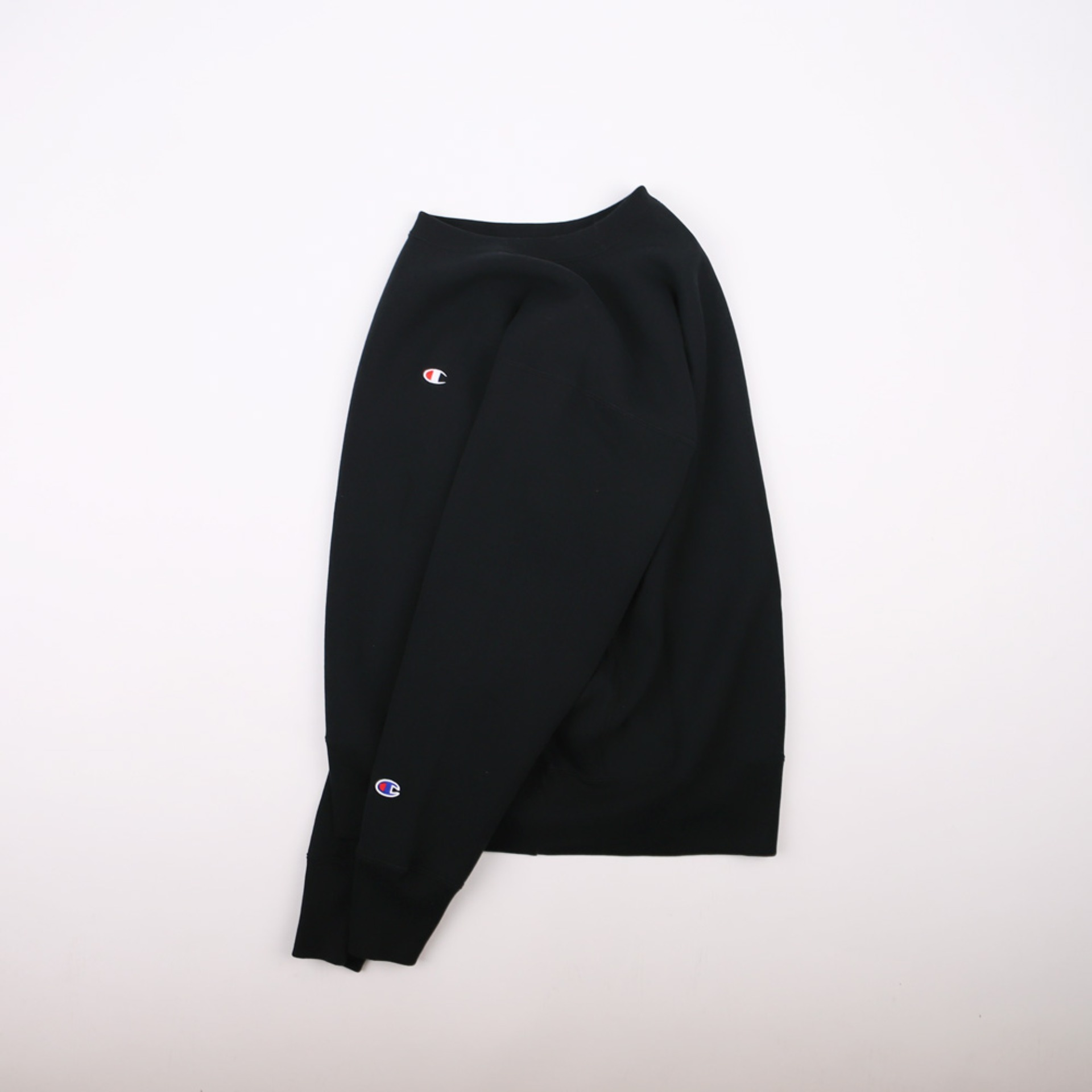 BLUE TAG BIG SILHOUETTE CREW NECK SWEAT 11.5oz (Black)
