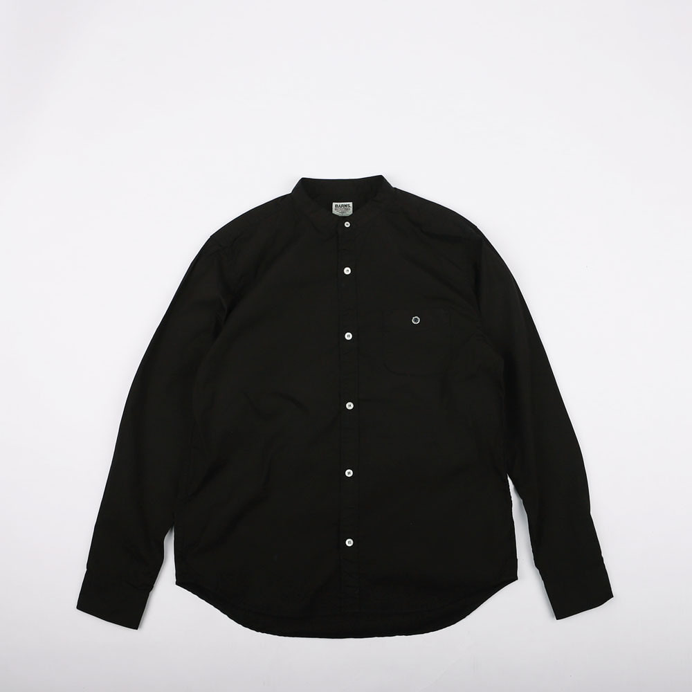 BAND COLLAR SHIRT (Dark Navy)