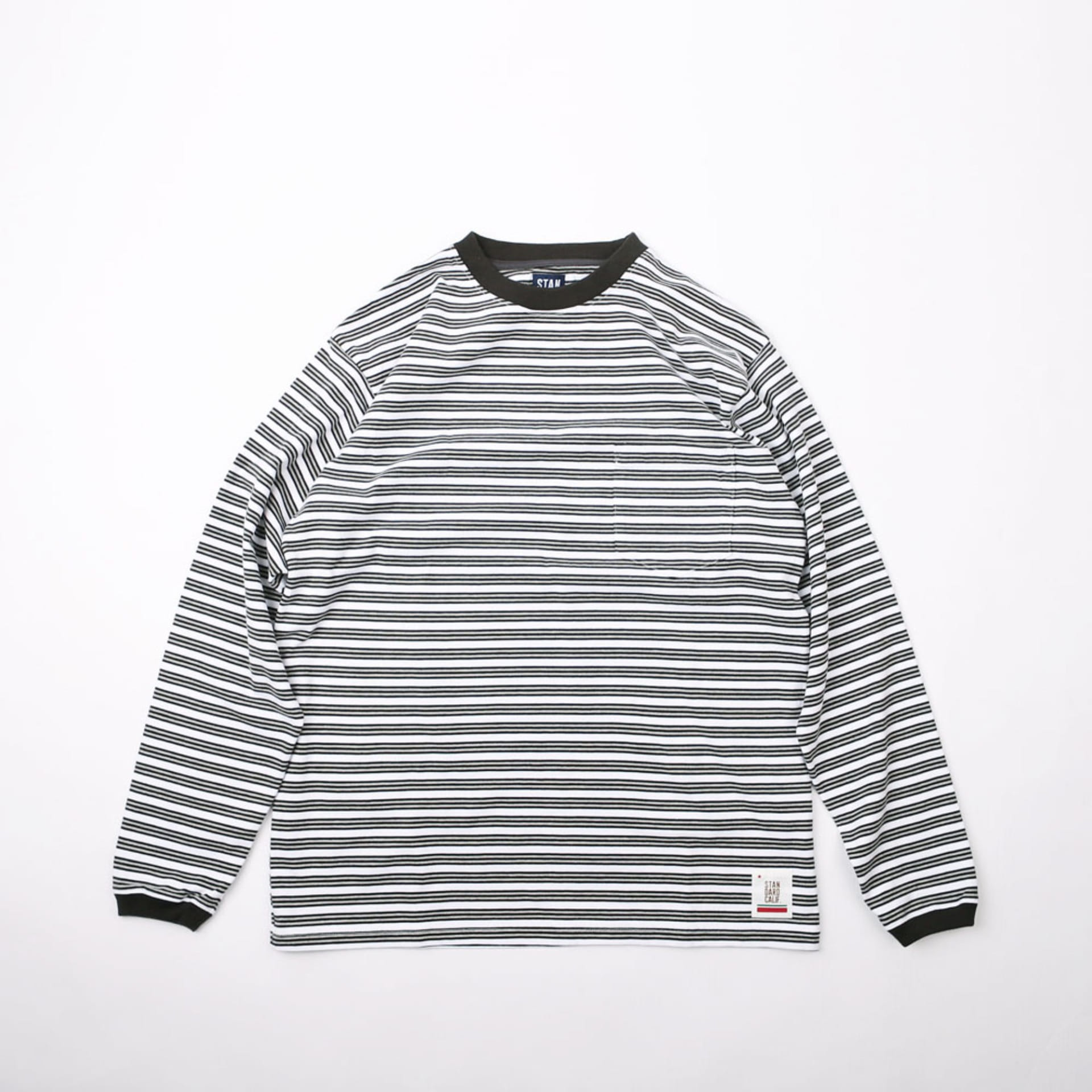 SD Border Long Sleeve T Shirt (BLK/GRY/WHT)