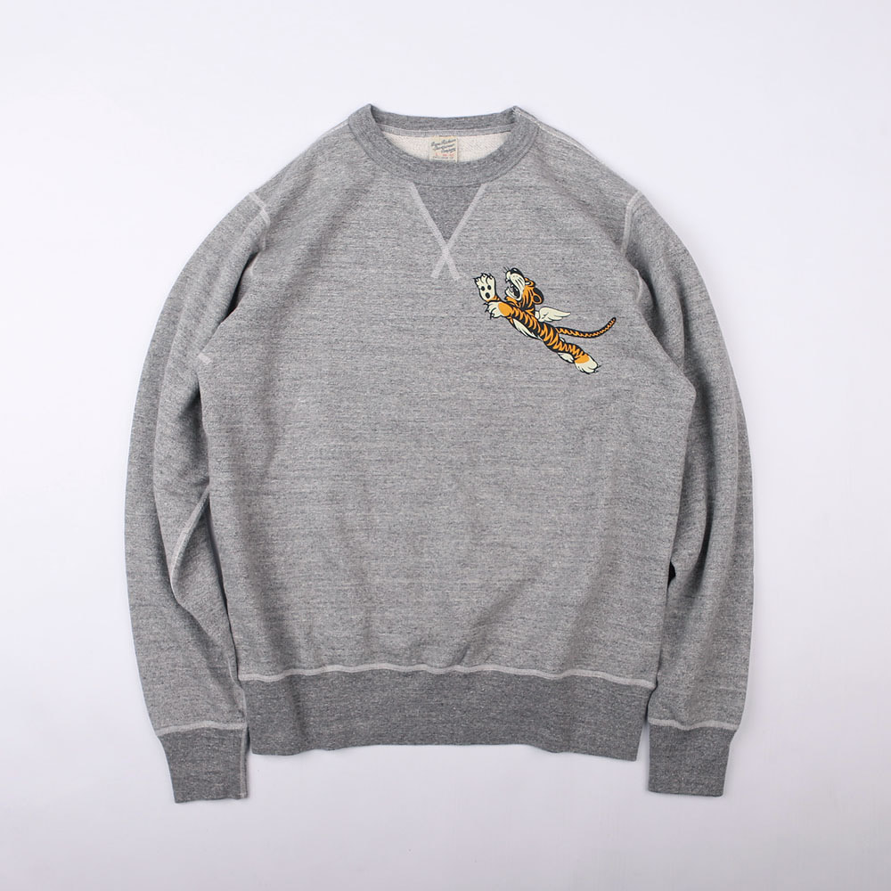 Crew Neck Sweat Shirt Flying Tiger (M.Grey)