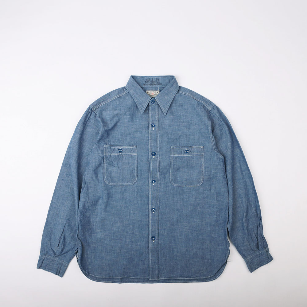 CHAMBRAY WORK SHIRT(RESTOCK)(Blue Indigo)