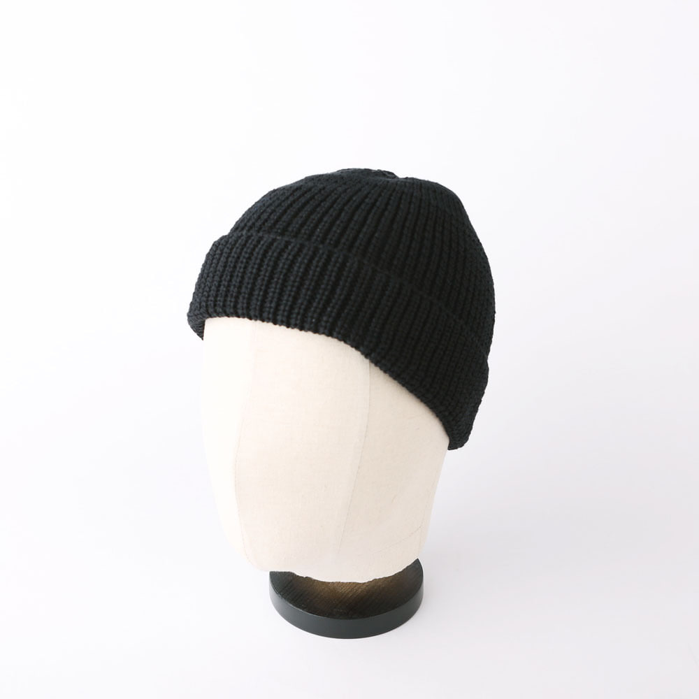 Wafager Cotton Short Beanie (Black)