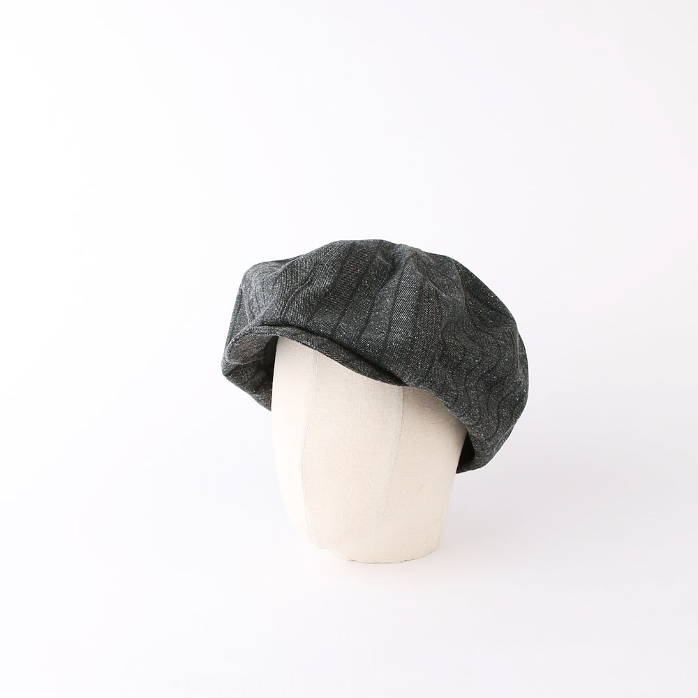 "[Great Lakes GMT. MFG. Co.]Casquette""CILLIAN""(Grained Gray Black)"