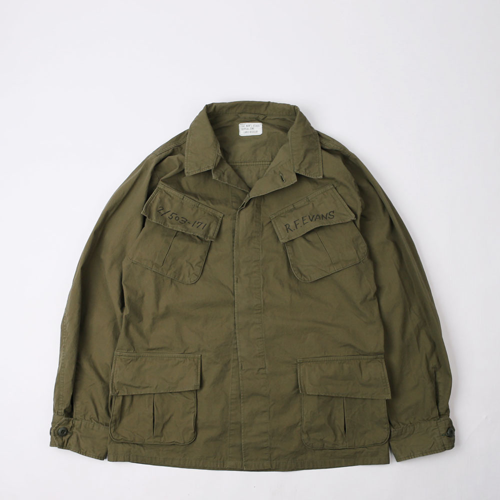 "JUNGLE FATIGUESOUTHERNMOST BUSH JACKET""Sky Soldier 173rd""(Olive)"