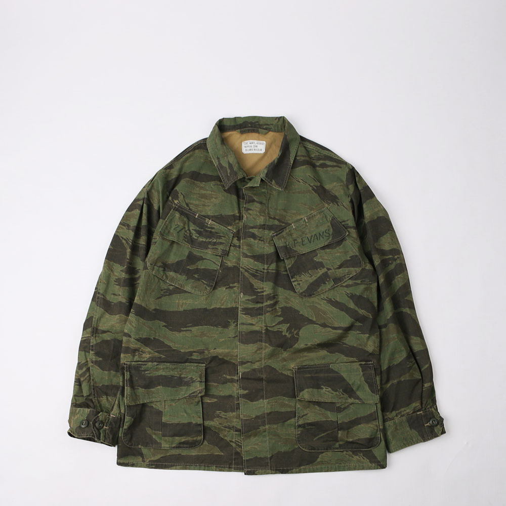 "JUNGLE FATIGUESOUTHERNMOST BUSH JACKET""Sky Soldier 173rd""(Tiger Camoflage)"