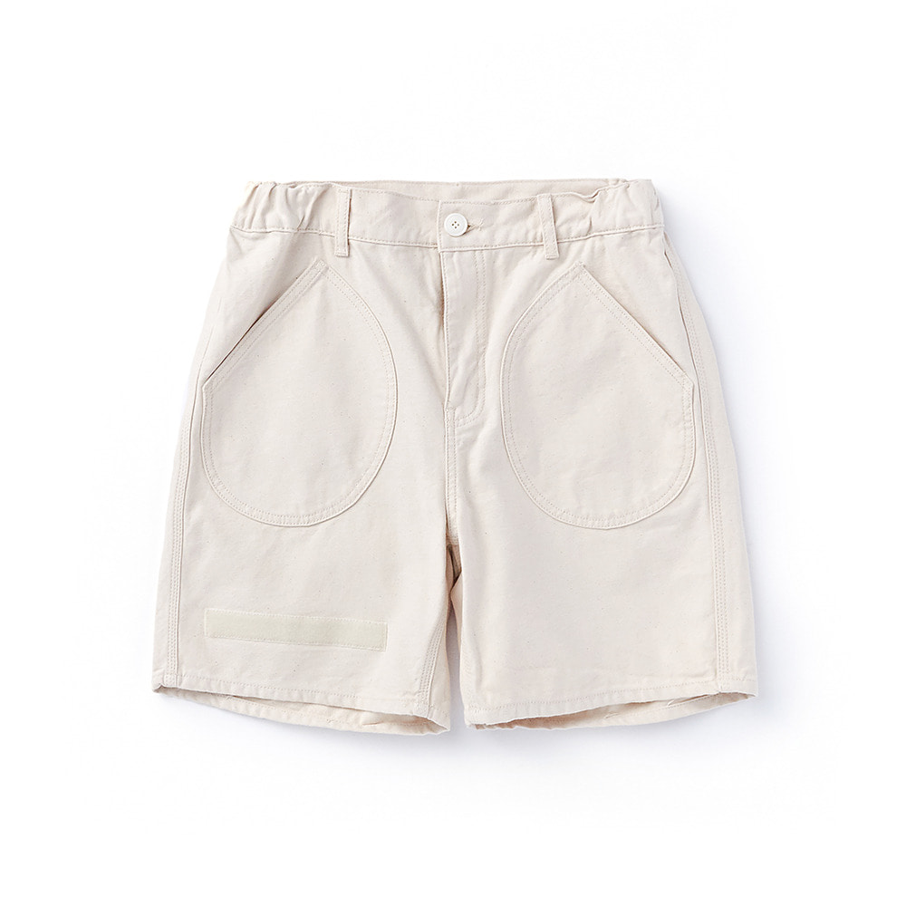 CWSP-002 Deck Pockets Short Pants Ecru