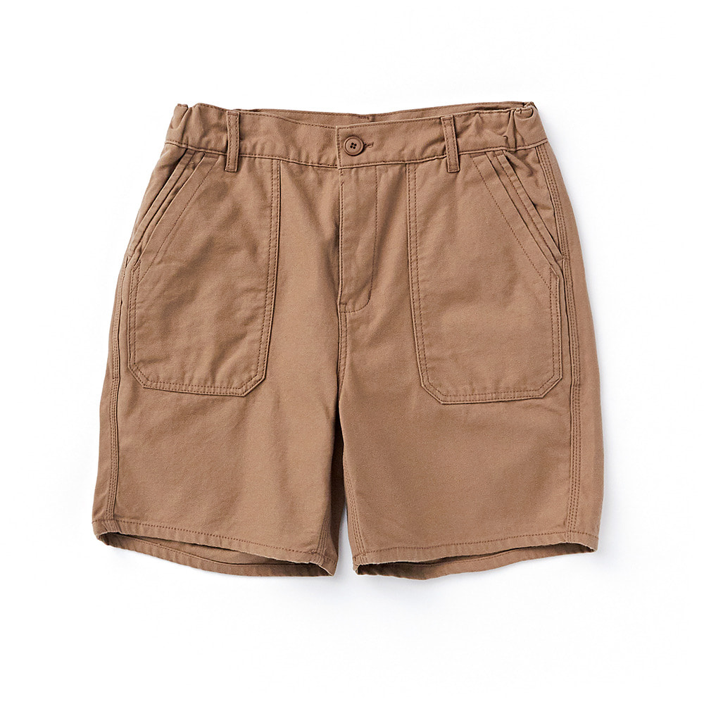 CWSP-002 Deck Pockets Short Pants Brown