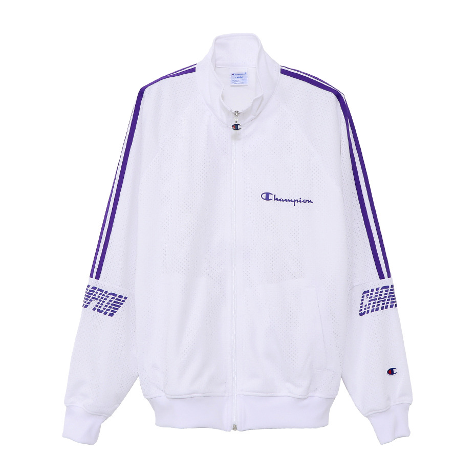 ACTION STYLE PULL ZIP-UP CHAMP MESH JACKET (White)