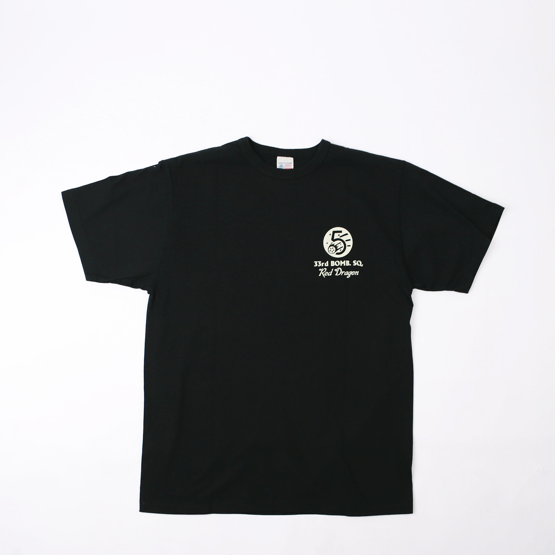 Loopwheel Tee33RD BOMB SQD. RED DRAGON  (Black)