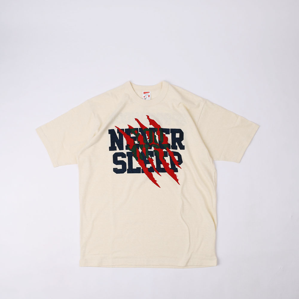 "[Power Wear]Set In Sleeve T-shirt ""SPRINGWOOD SLASHER""(Straw Cream)"