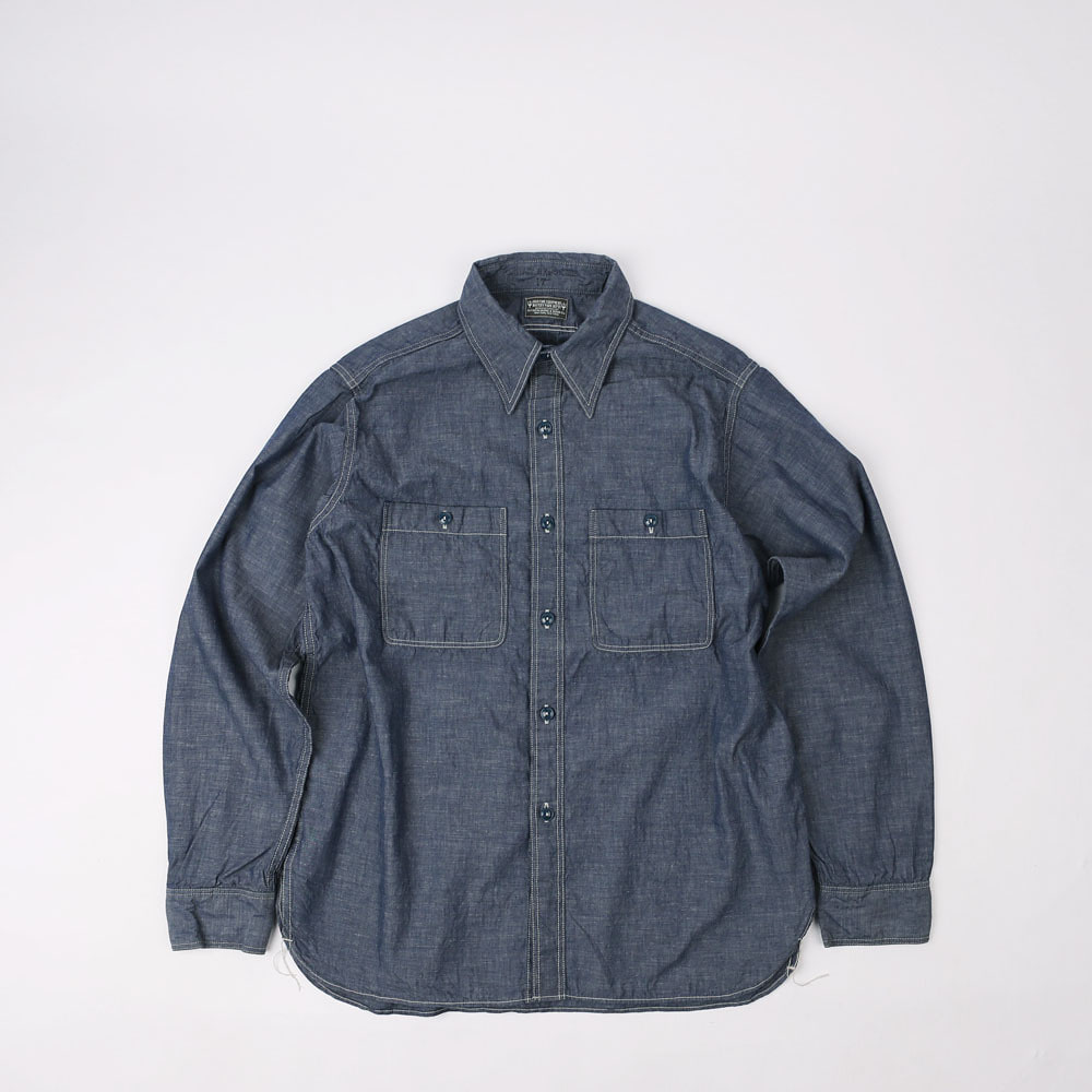 Military Chambray ShirtJACKTAR BLUE COMBINATON SHIRT(5oz Indigo)
