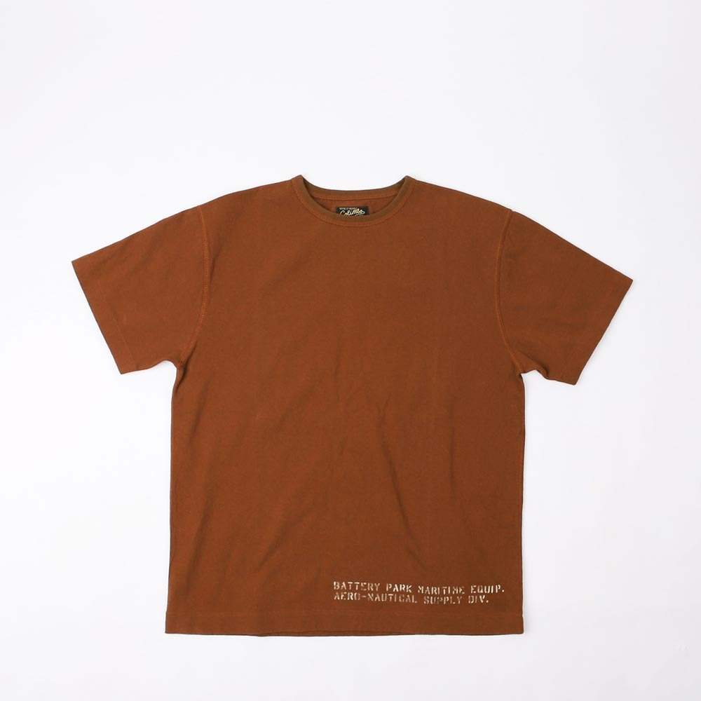 3 Needle TeeMARITIME EQUIP T-SHIRT(Brown)