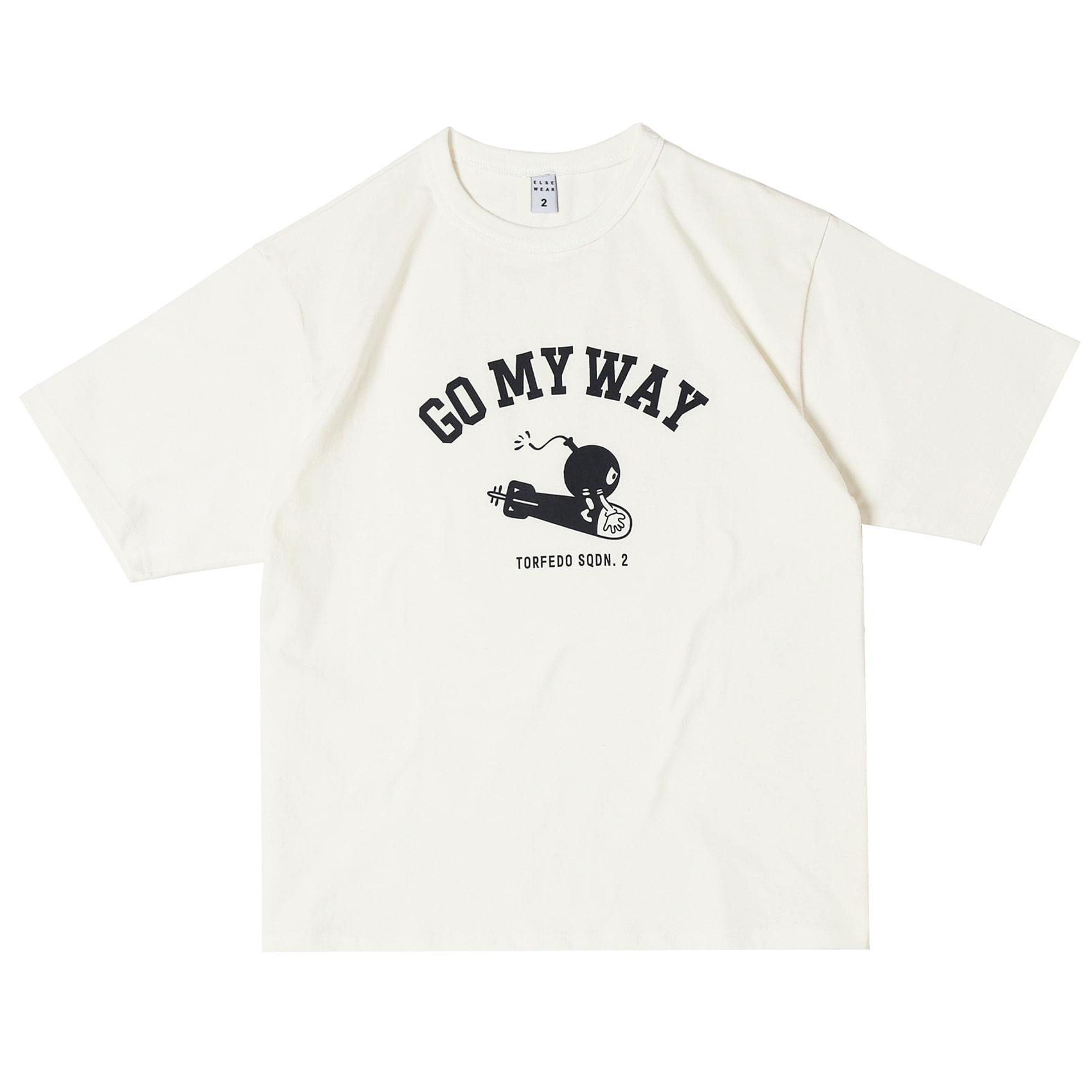 USAAF GO MY WAY OVERSIZED S/S TEE(White)