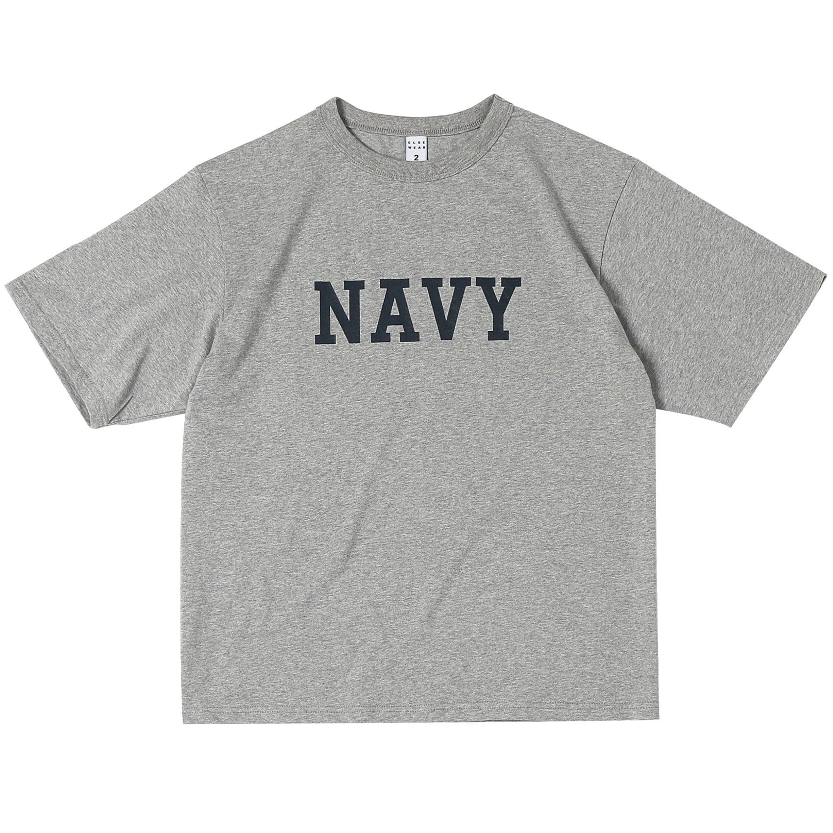 US NAVY OVERSIZED S/S TEE(Heather Gray)