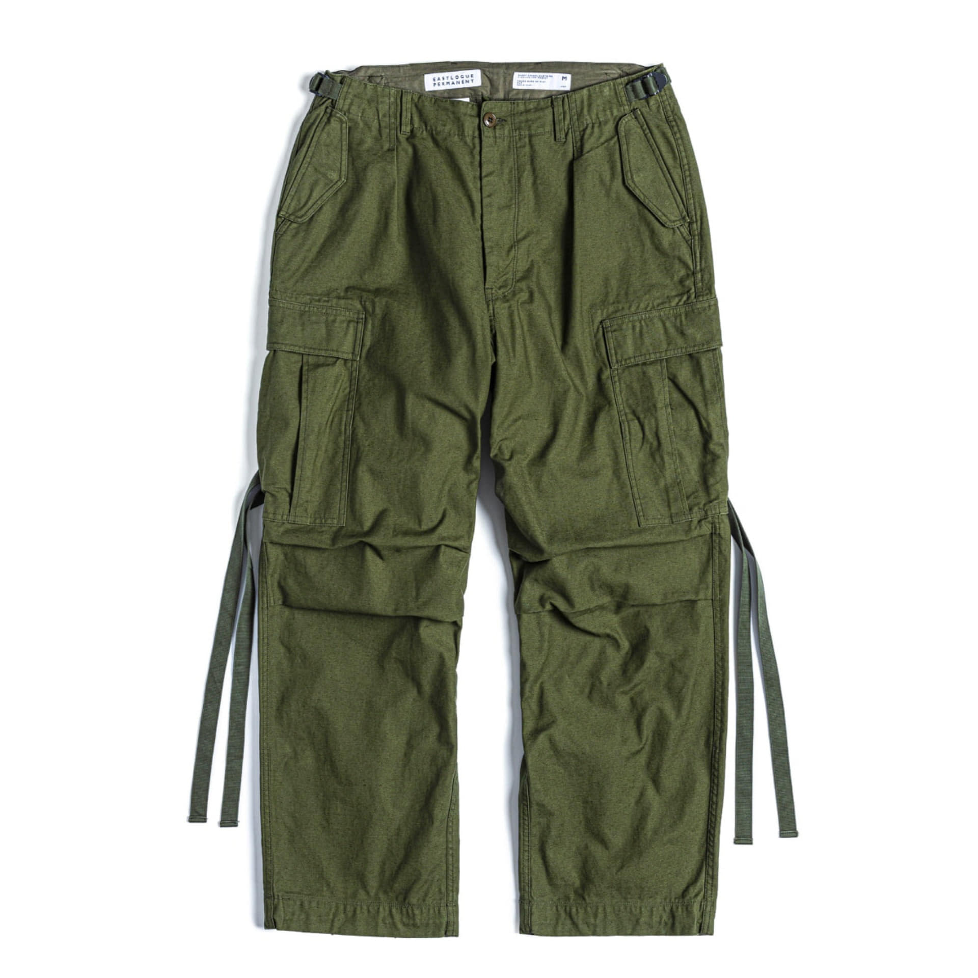 FIELD PANTS WIDE FIT (Olive Back Satin)