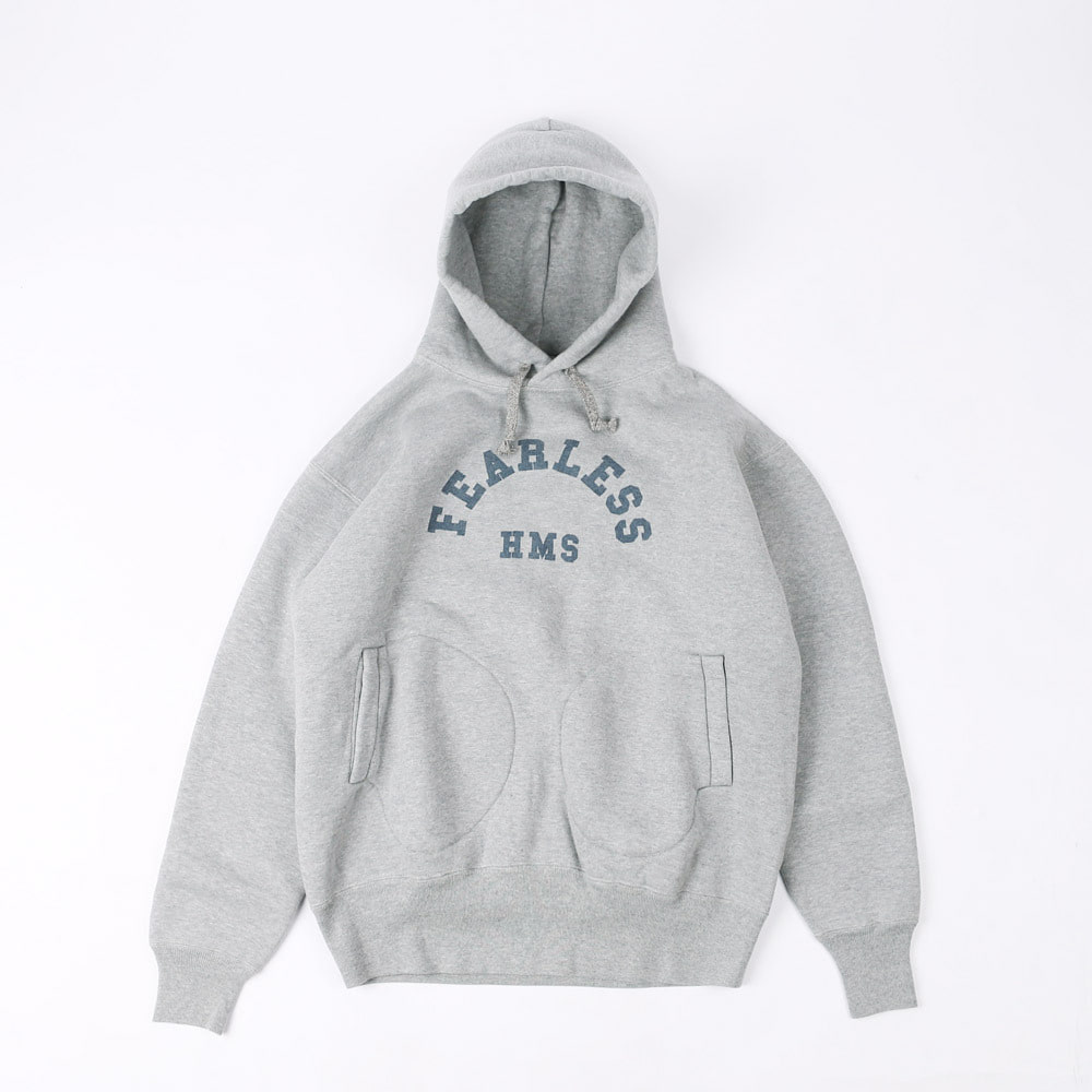 "LOOPWHEELROTC SHACK SWEAT HOODIE""FEARLESS ASSAULT SHIP"" (Gray)"