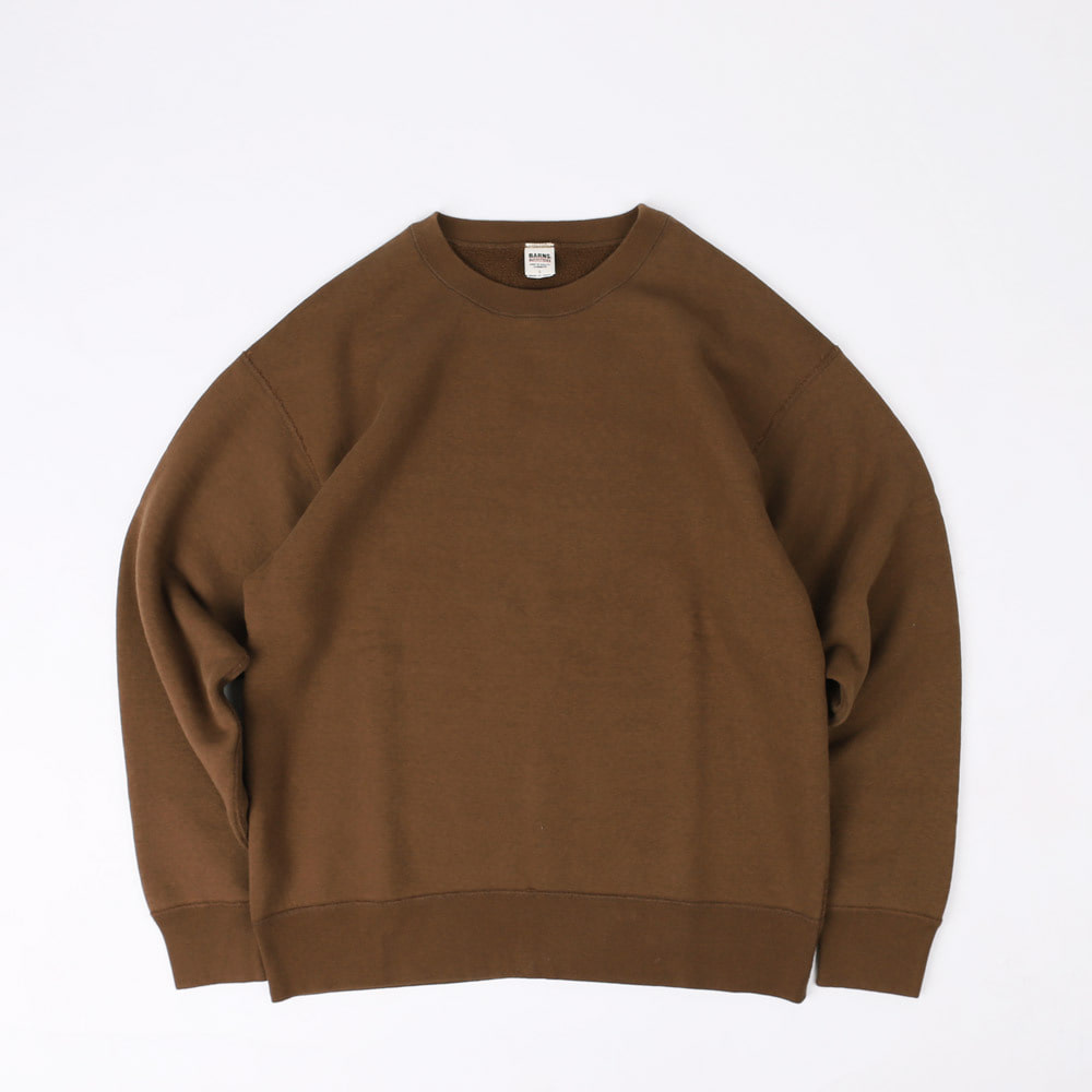 LOOPWHEELWIDE CREW NECK SWEATSHIRT (Brown)