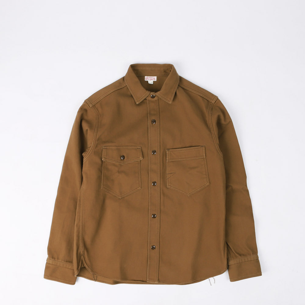 "[The Union Special Overalls]Work Shirt""GEMSA""(Dark Beige)"