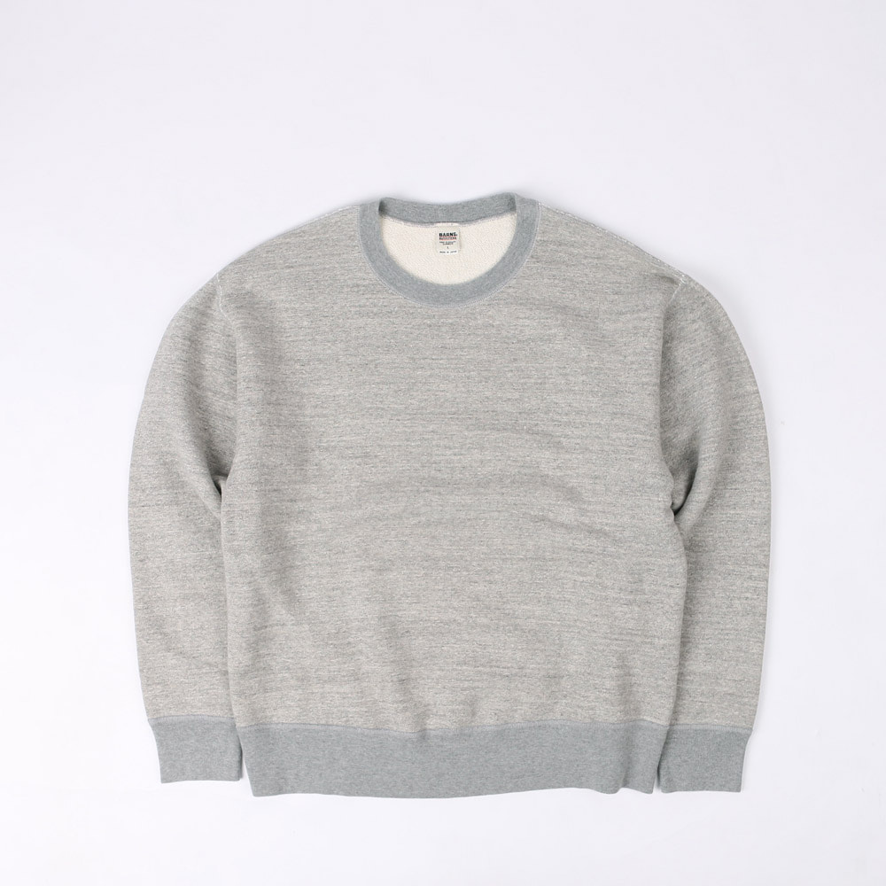 LOOPWHEELWIDE CREW NECK SWEATSHIRT (Gray)