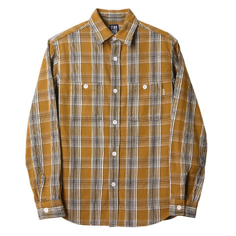 SD Flannel Check Shirt (Beige)