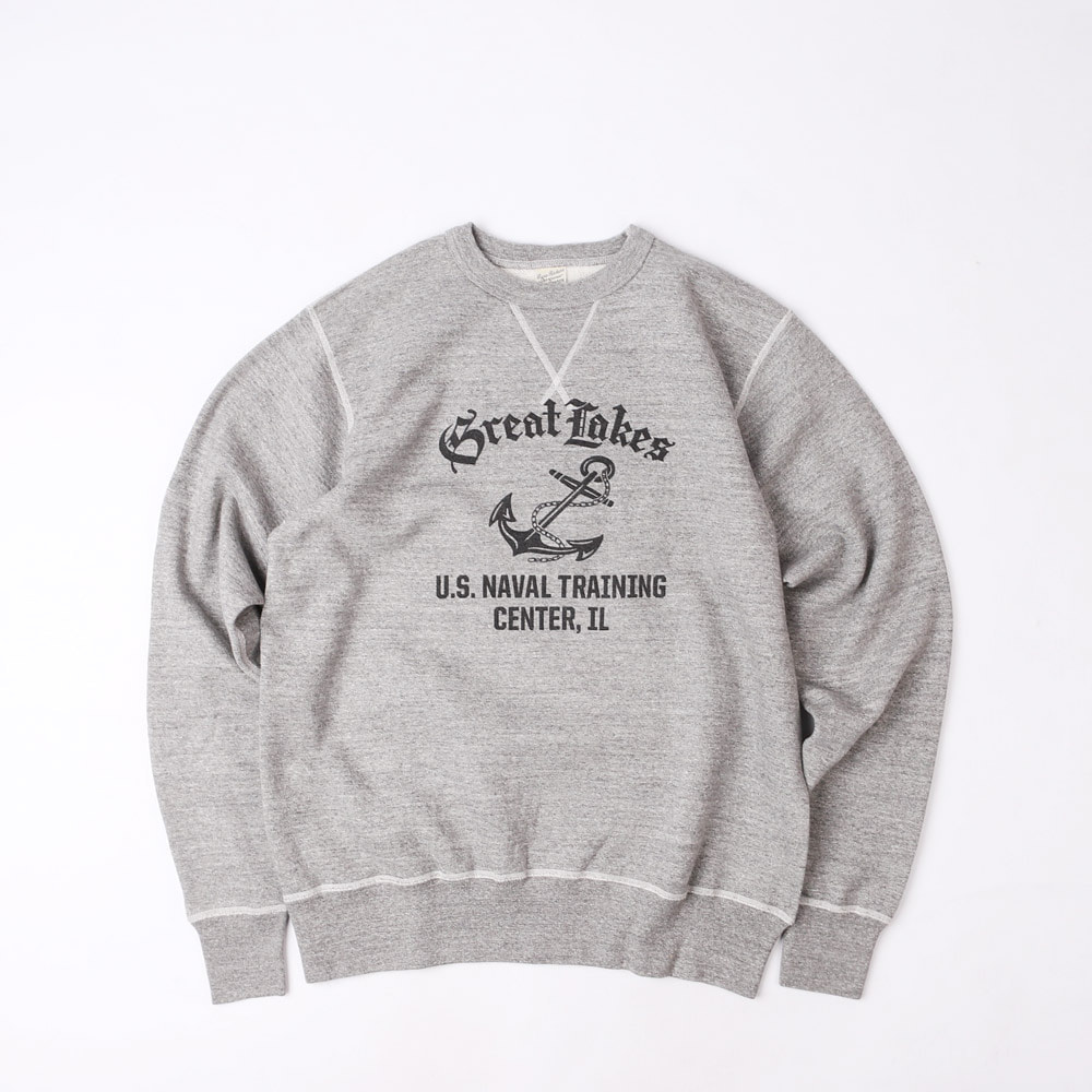 "LoopwheelSweatshirt ""GREAT LAKES U.S.NAVAL TRAINING CENTER""(Heather Gray)"