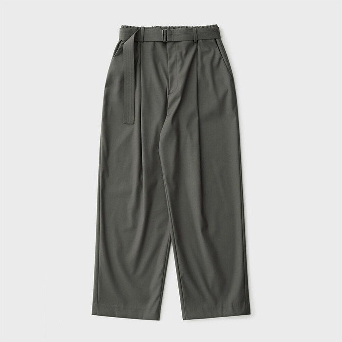 A/O 21SS Calm Banded Pants (Olive Gray)