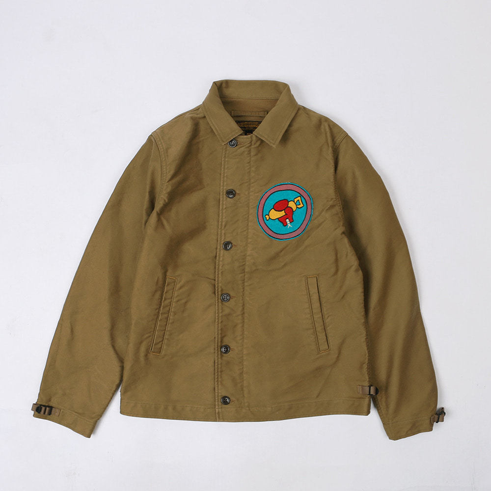 "[Union Special Overalls]DECK WORKER JACKET""1945 USN VBF-89 SQ""(Khaki Beige)"